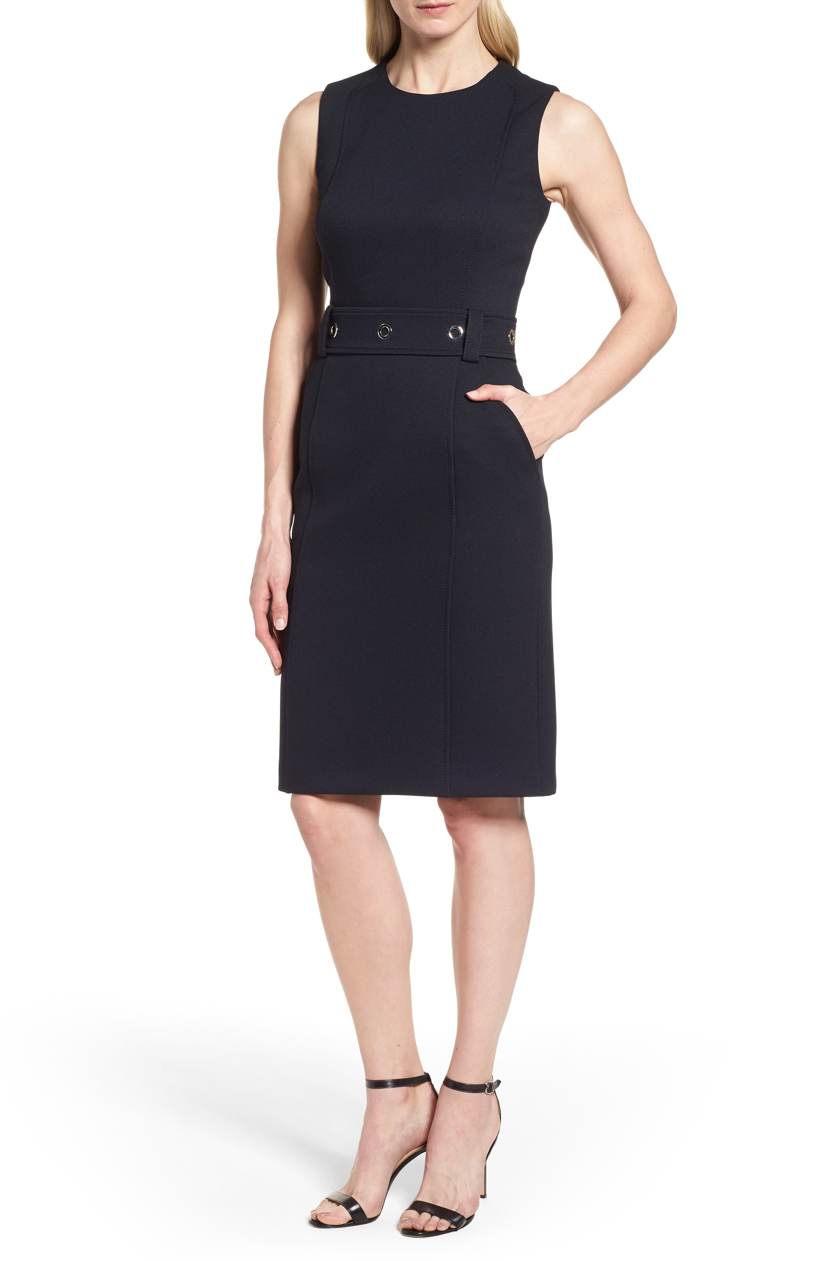 Duleama Belted Sheath Dress,                         Main,                         color, 480
