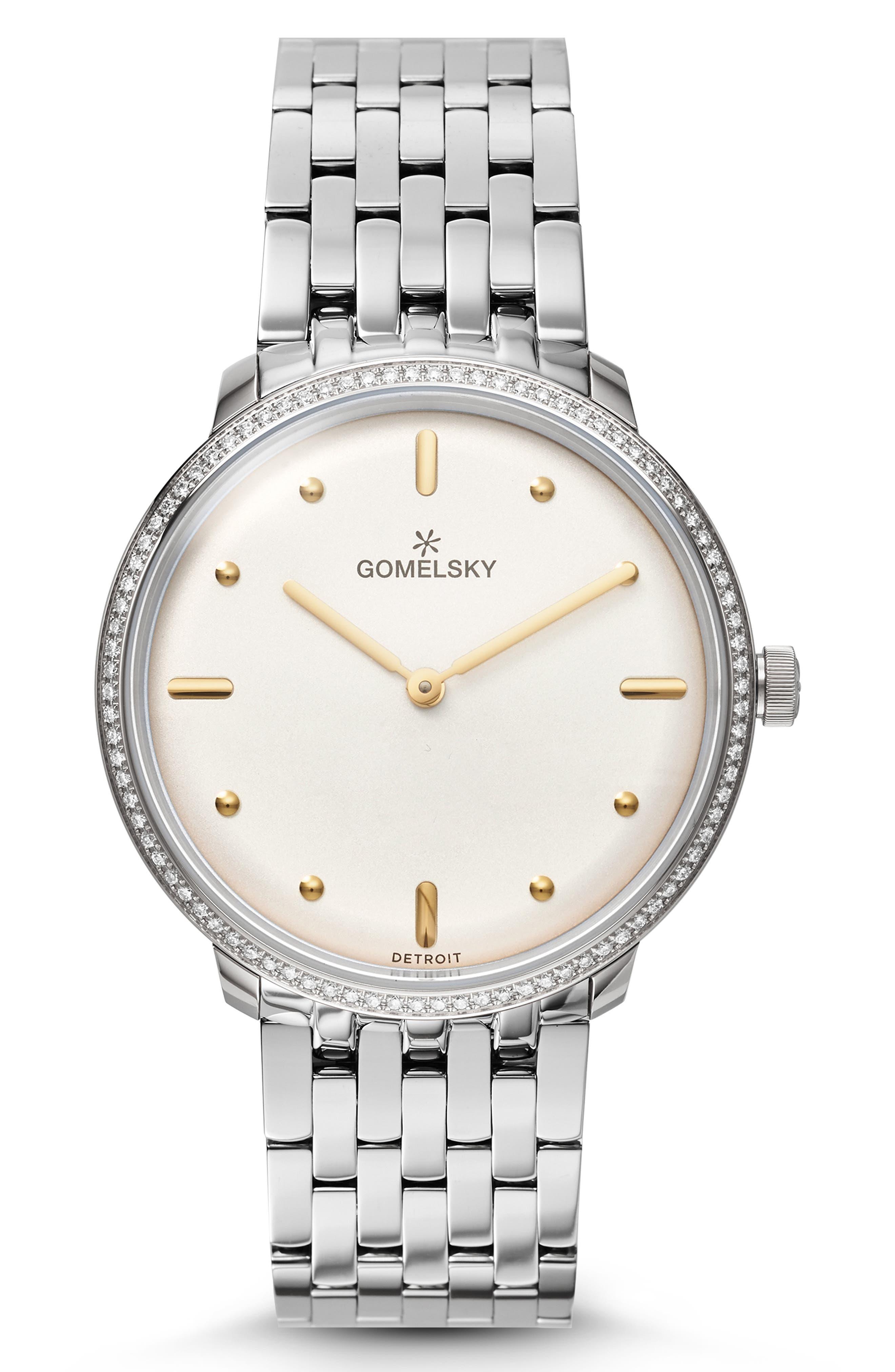 GOMELSKY The Lois Diamond Bracelet Watch, 36Mm in Silver