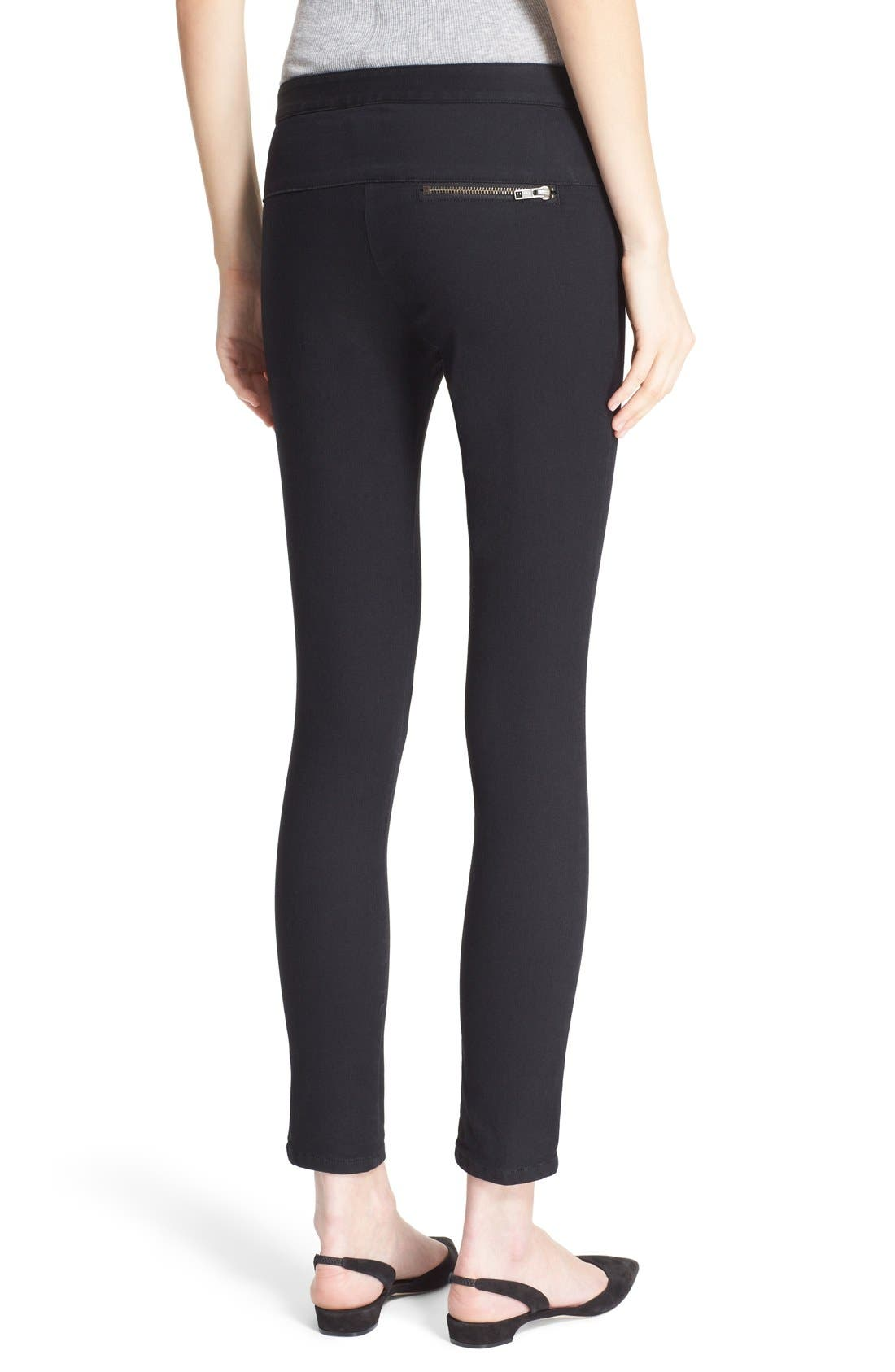 Skinny Crop Trousers,                             Alternate thumbnail 3, color,                             001