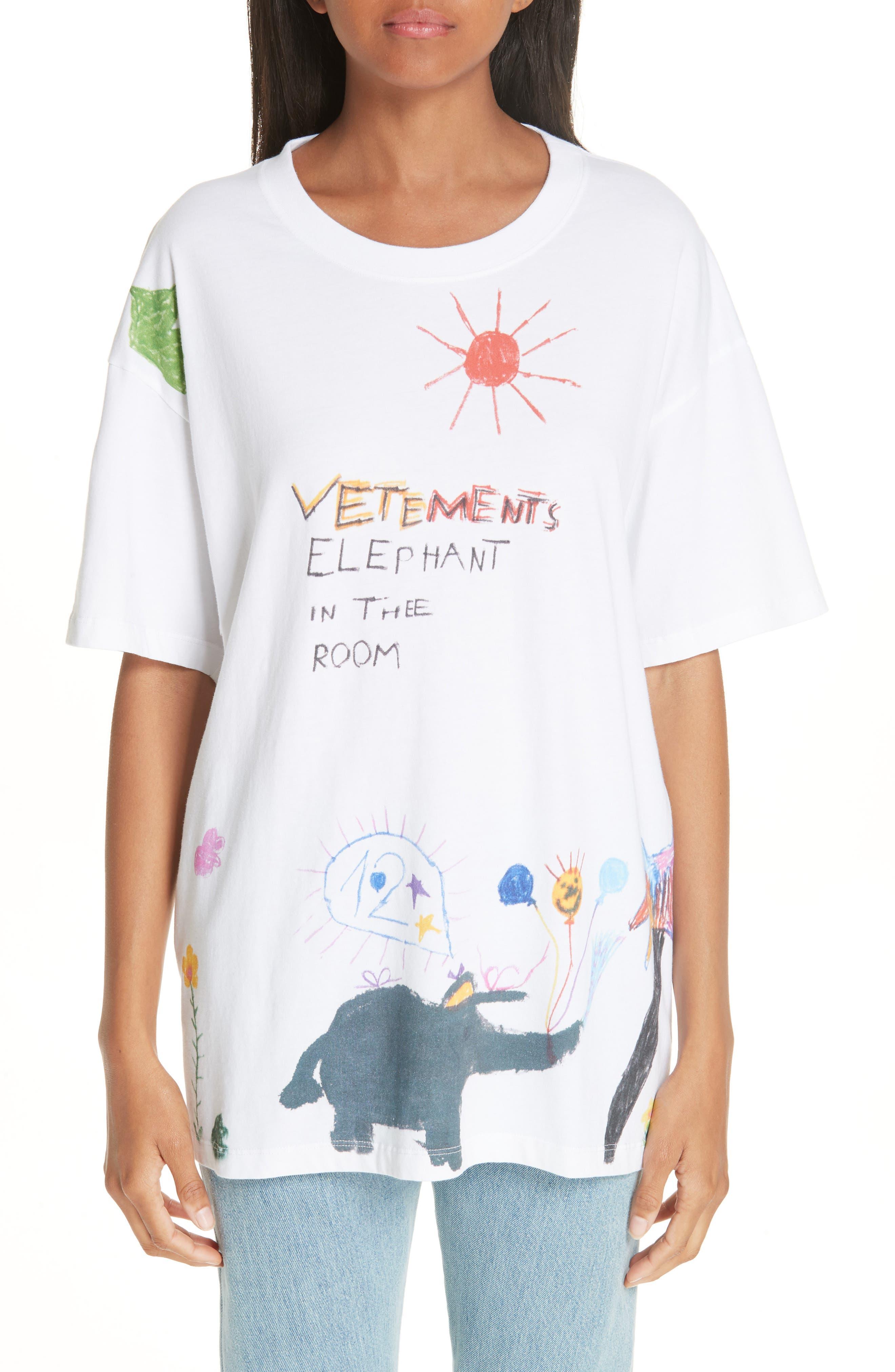 Elephant Sun Tee, Main, color, 100