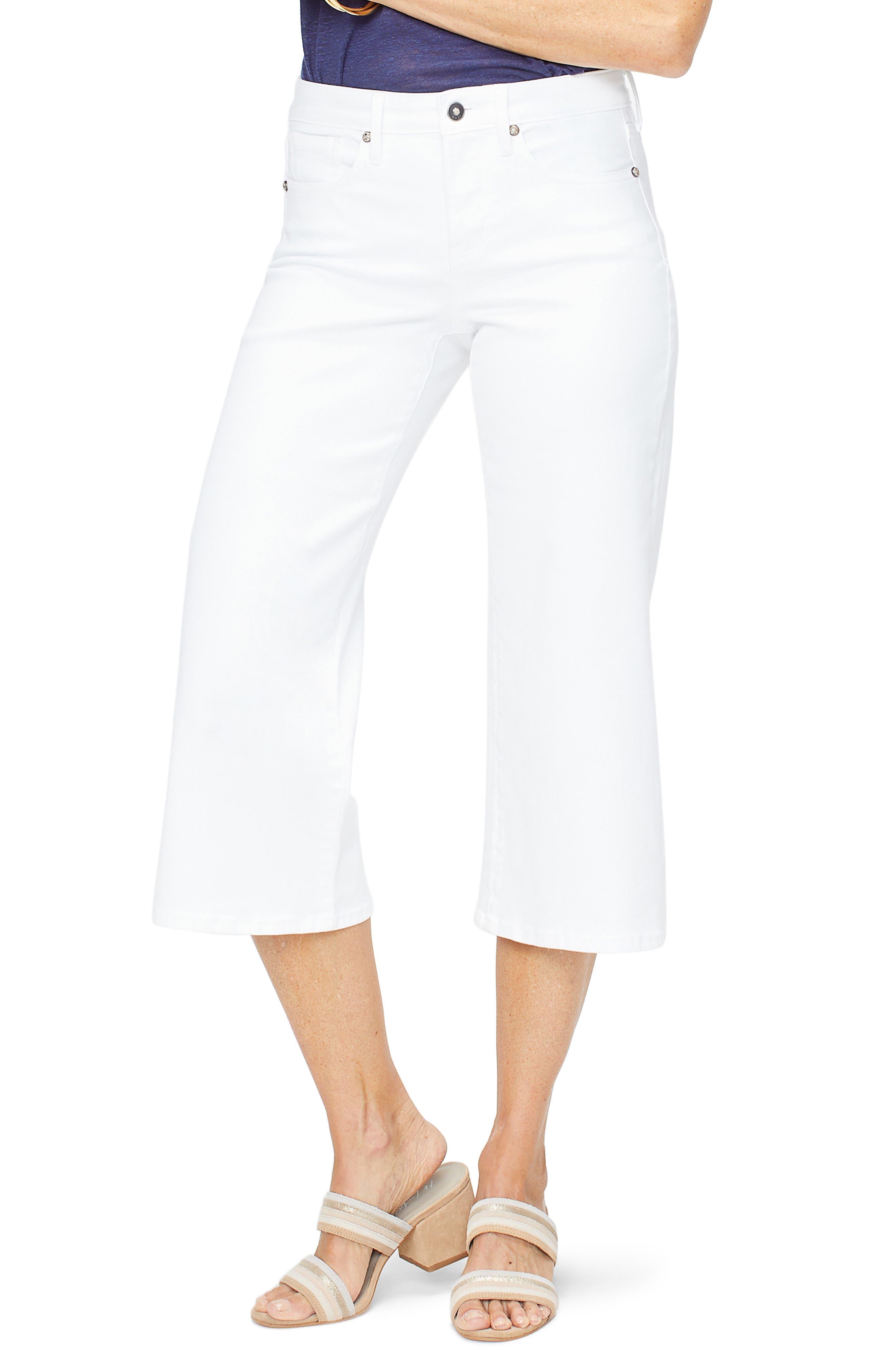 Nydj Wide Leg Capri Jeans, White