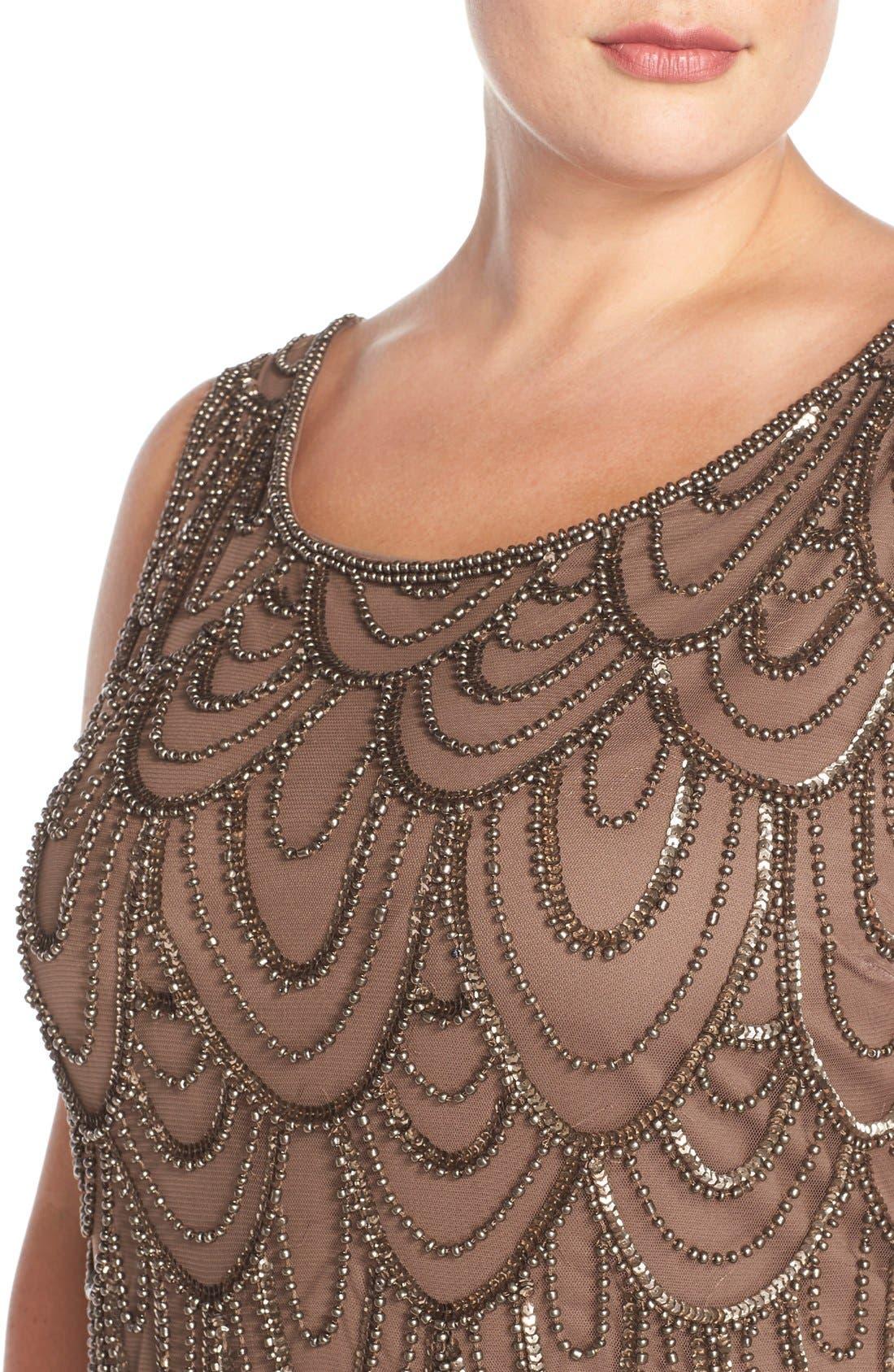 Beaded Sheath Dress,                             Alternate thumbnail 60, color,