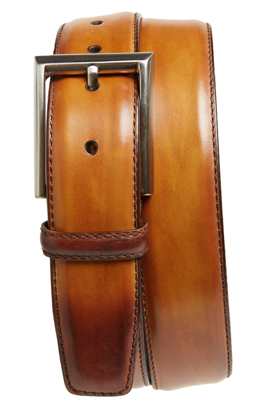 Catalux Leather Belt,                         Main,                         color, 230