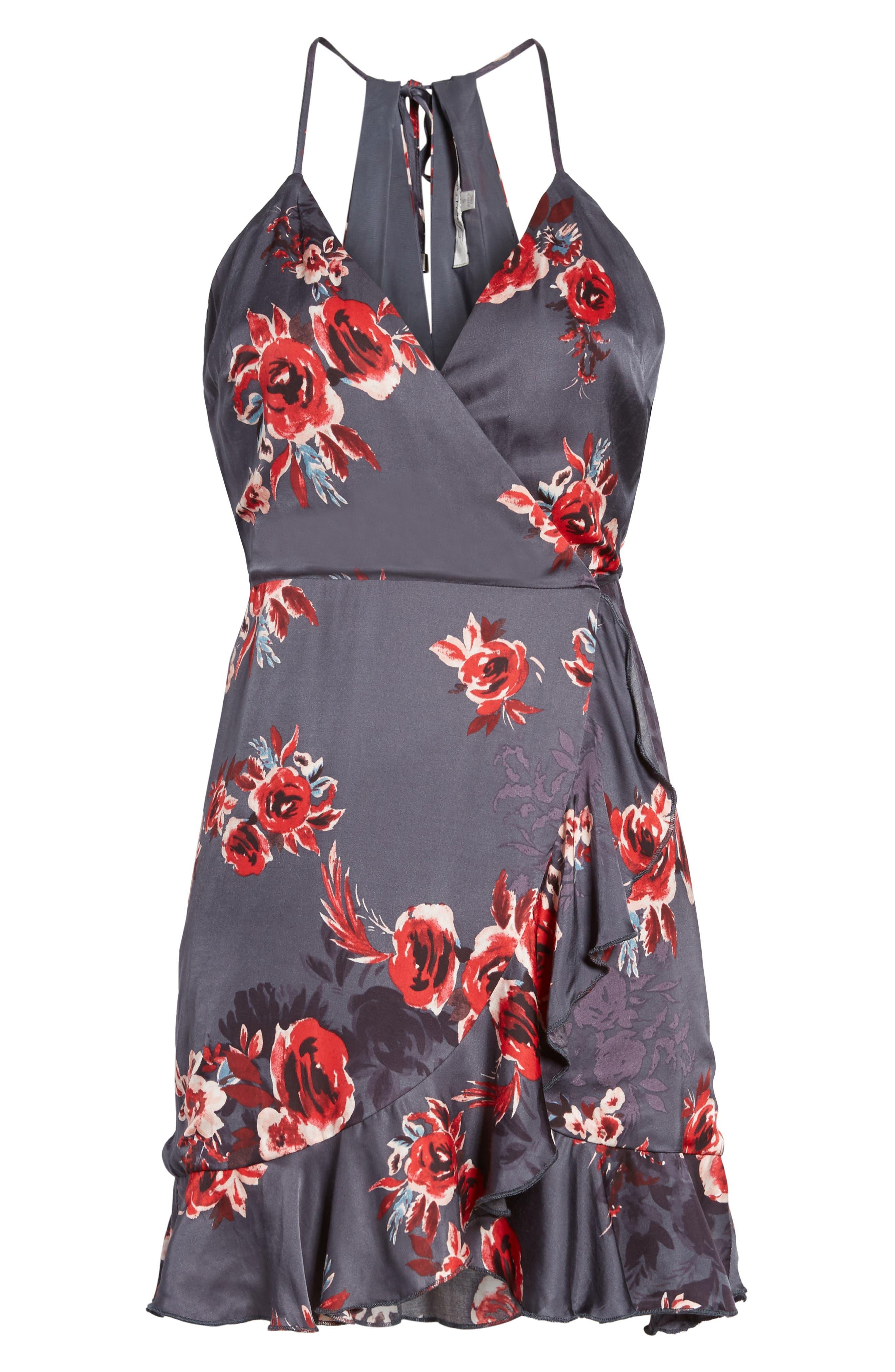 Gigi Wrap Dress,                             Alternate thumbnail 6, color,