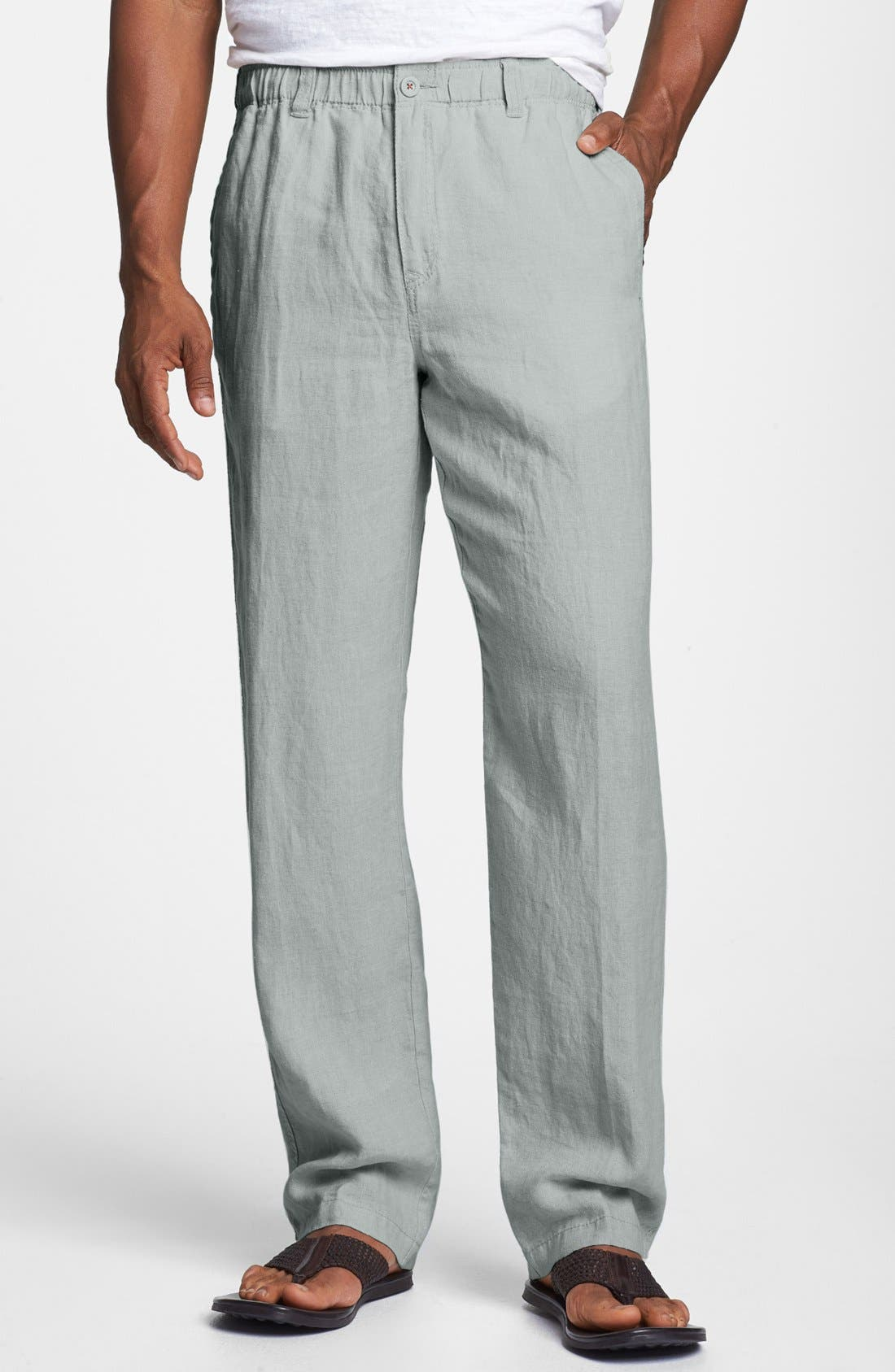 'New Linen on the Beach' Easy Fit Pants,                             Main thumbnail 3, color,