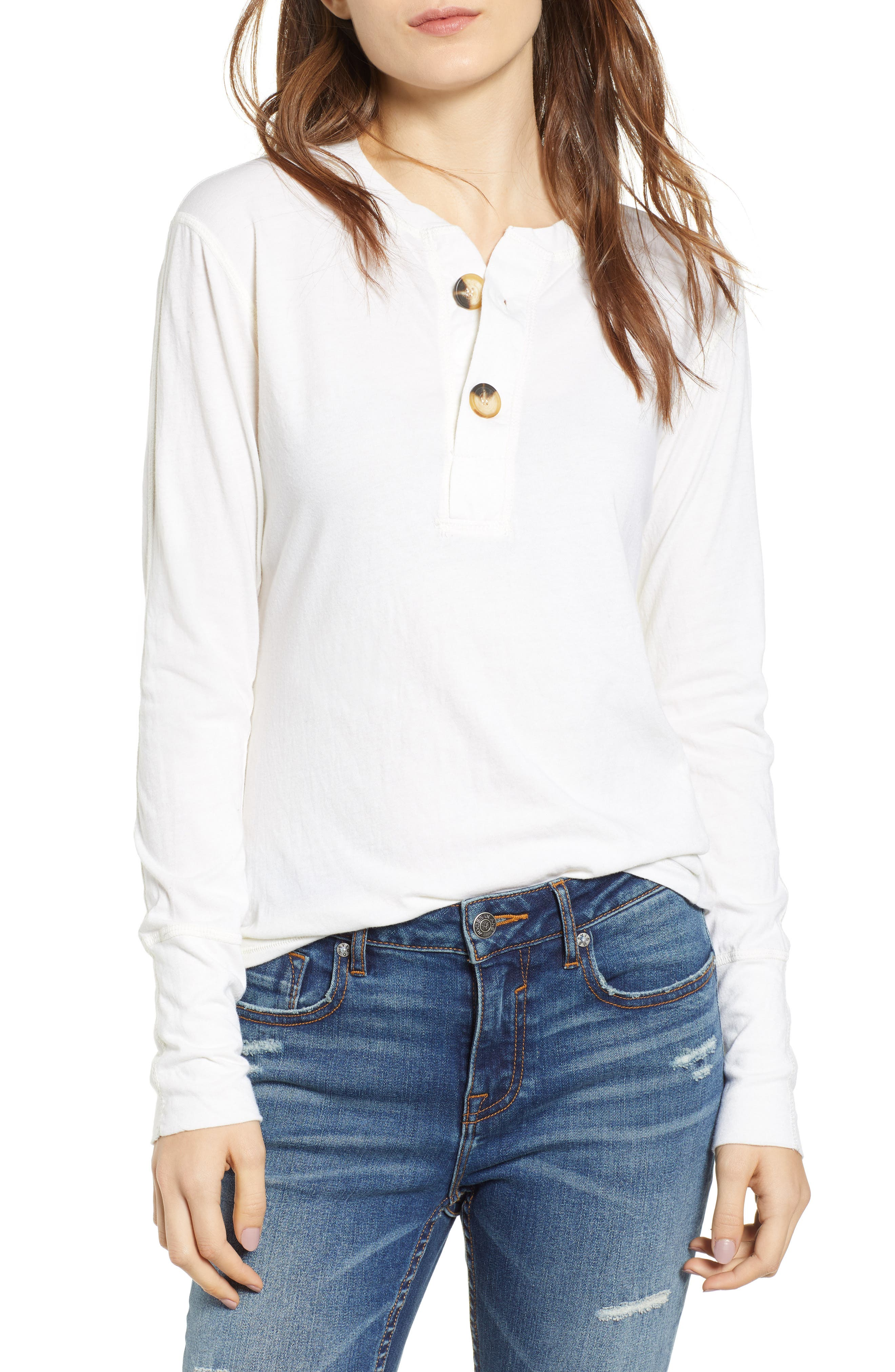 Like a Rollin Stone Henley,                         Main,                         color, OFF WHITE