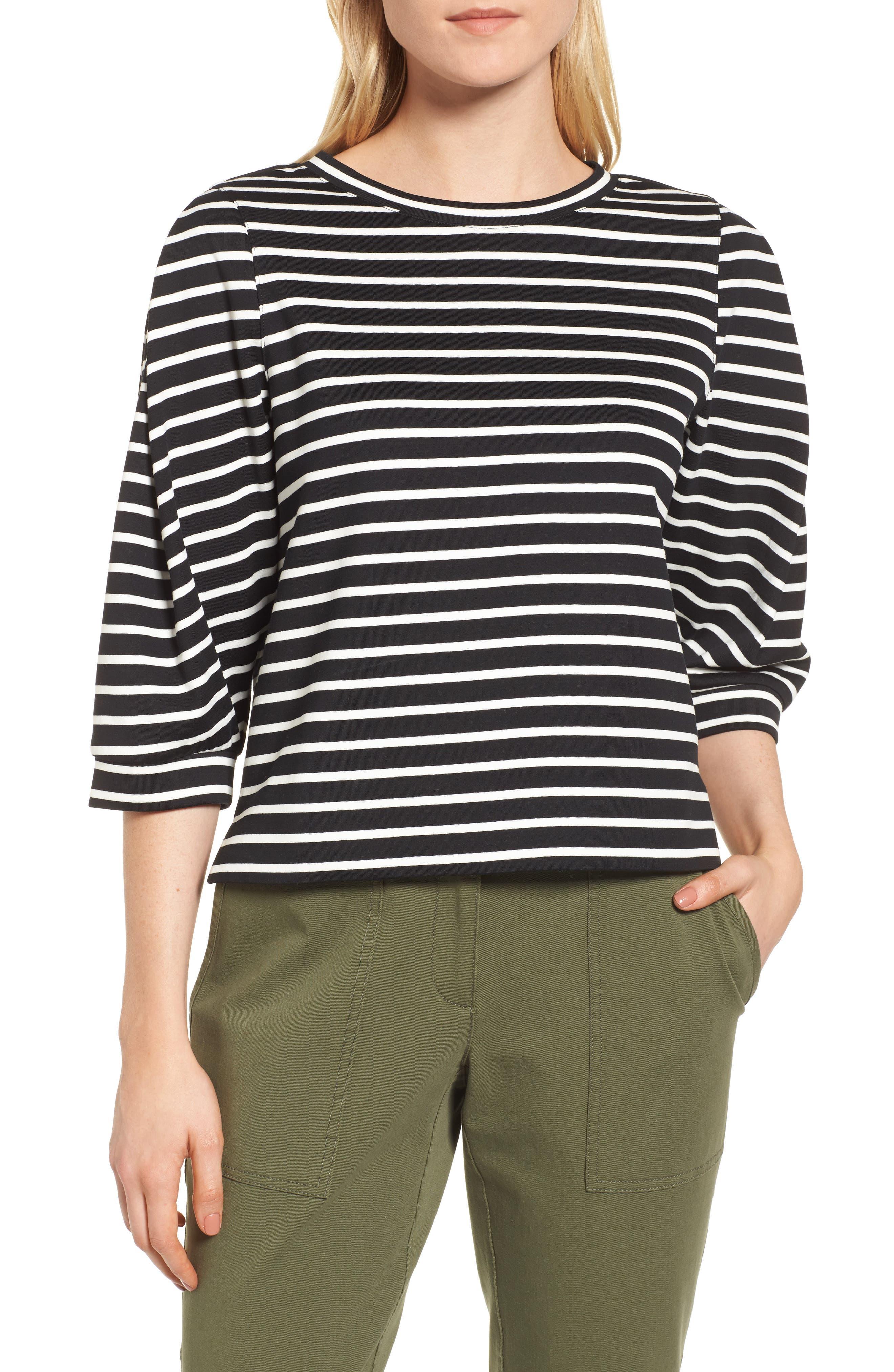 Detail Sleeve Sweatshirt,                         Main,                         color, 001