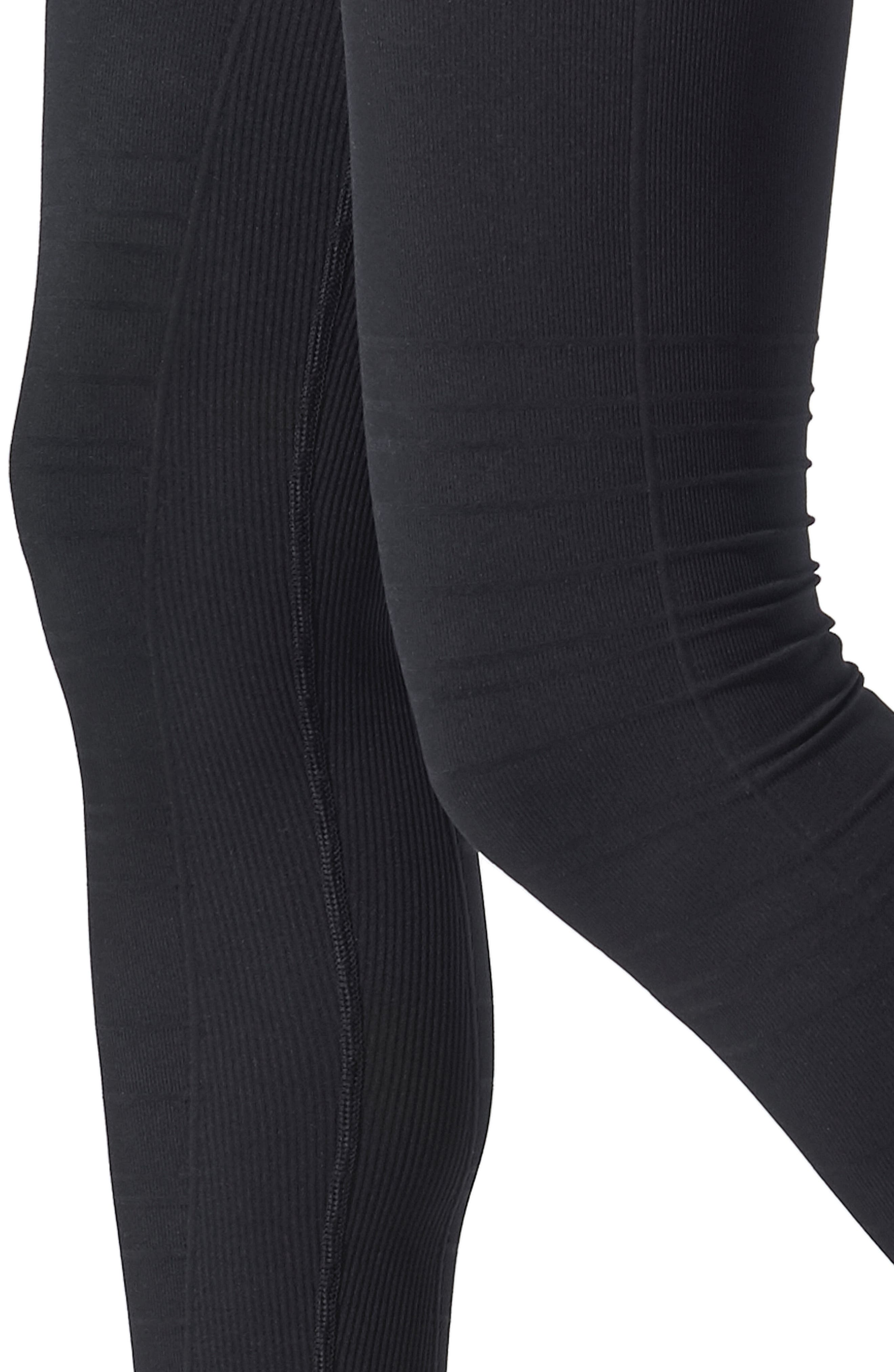 SportSupport<sup>®</sup> Hipster Contour Support Maternity/Postpartum Leggings,                             Alternate thumbnail 3, color,                             BLACK