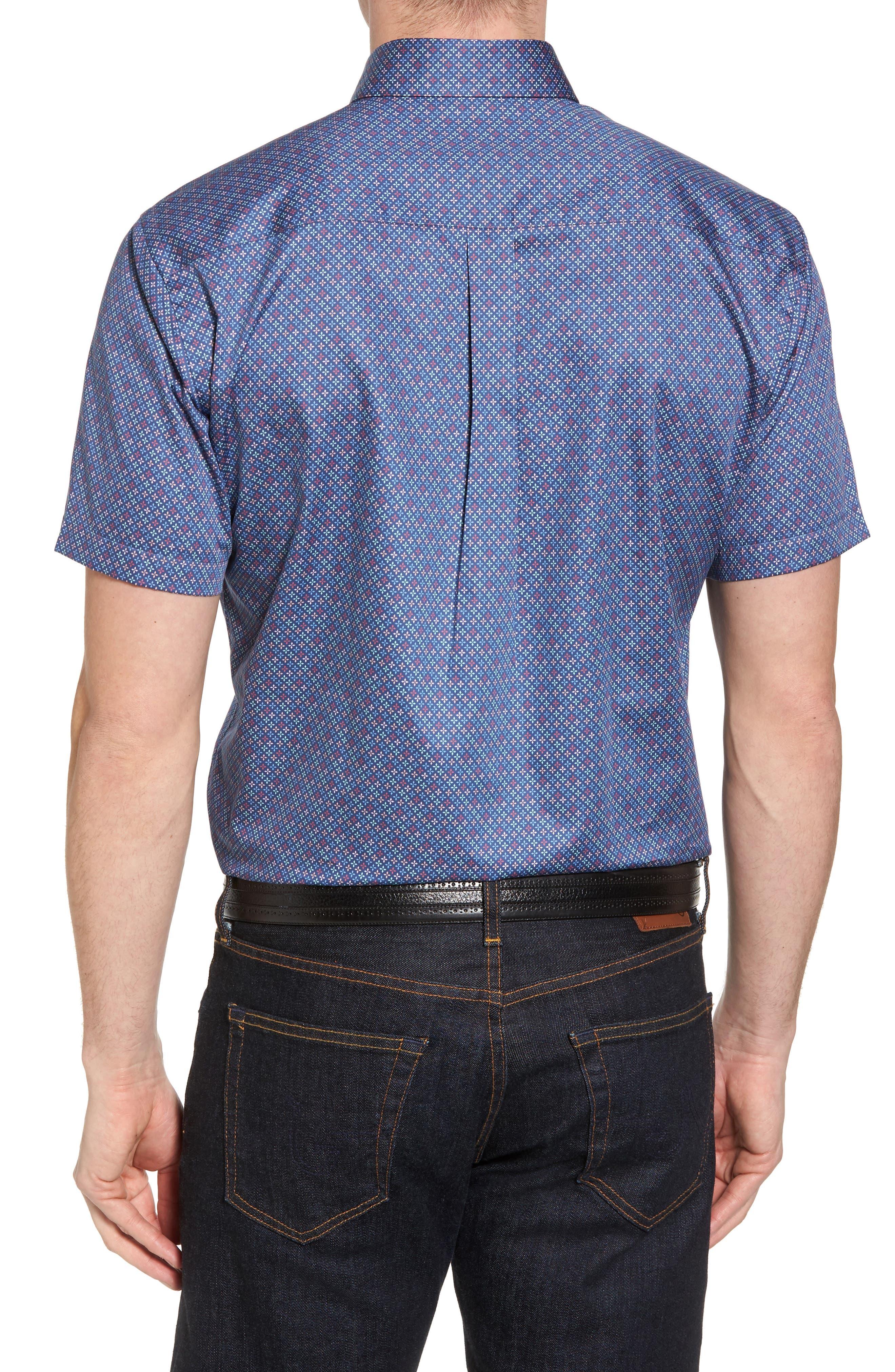 All Aces Regular Fit Sport Shirt,                             Alternate thumbnail 2, color,                             YANKEE BLUE