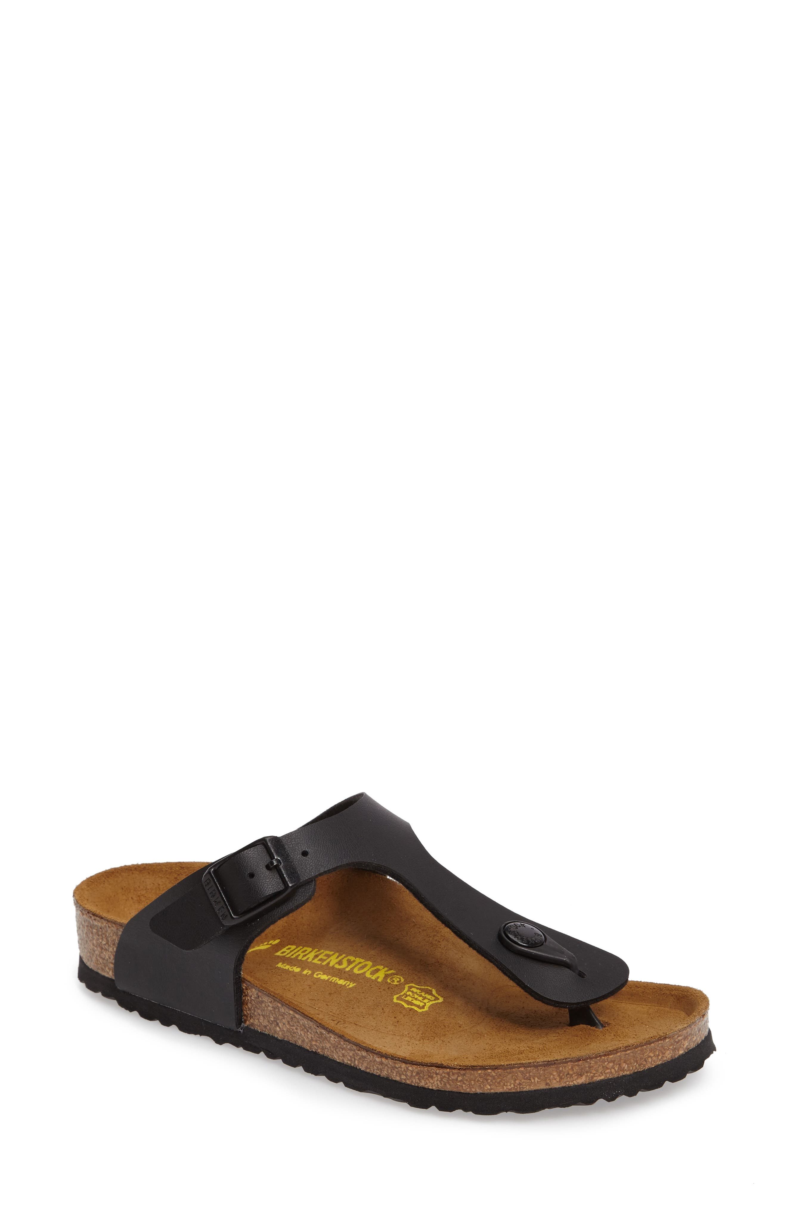 Gizeh Sandal,                         Main,                         color, BLACK
