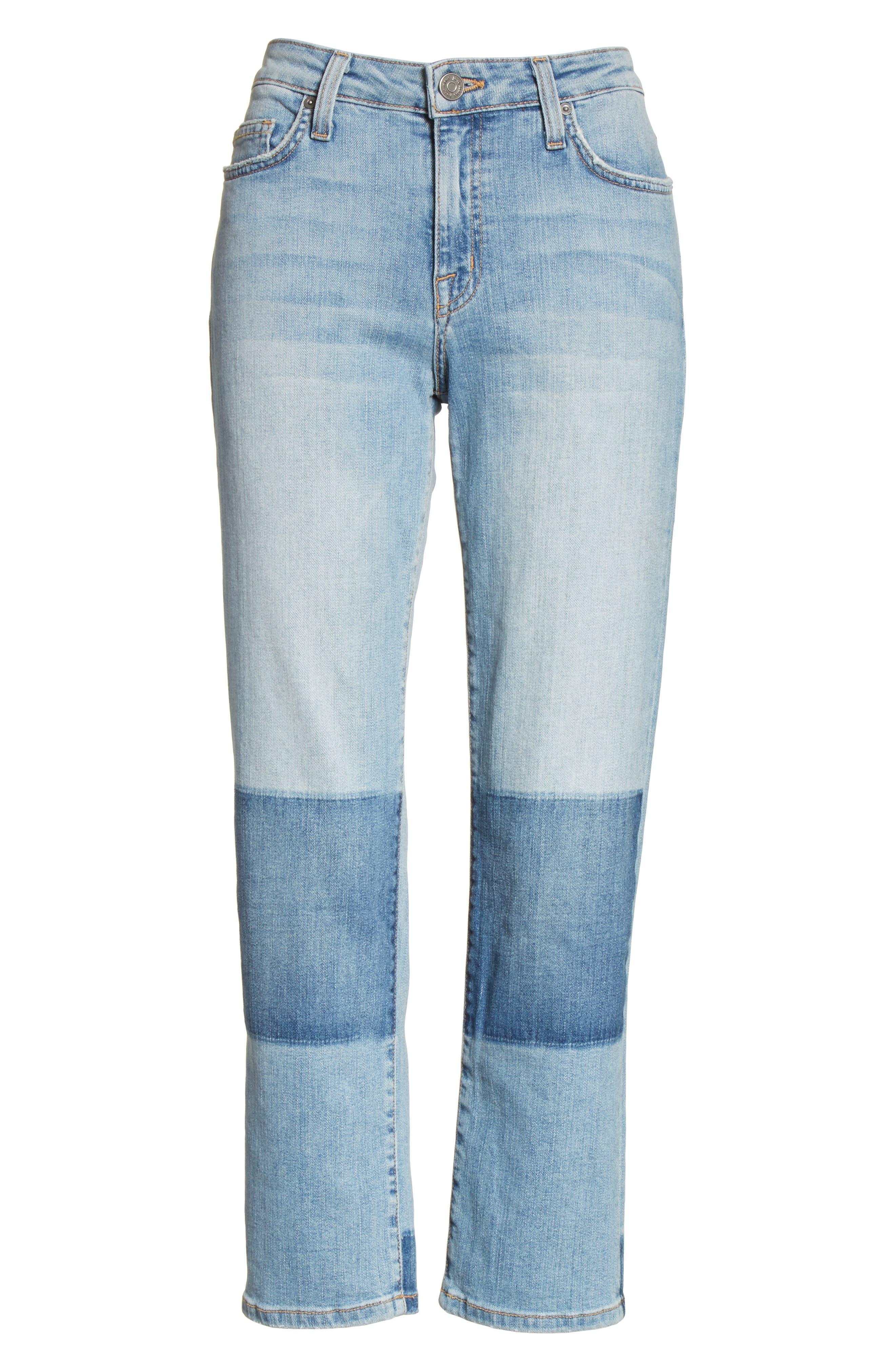 Josalind Straight Leg Crop Jeans,                             Alternate thumbnail 6, color,                             479