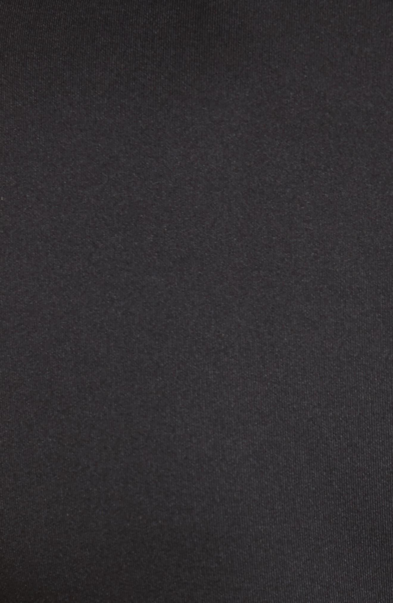 Mesh & Lace Trim Skater Dress,                             Alternate thumbnail 5, color,                             001