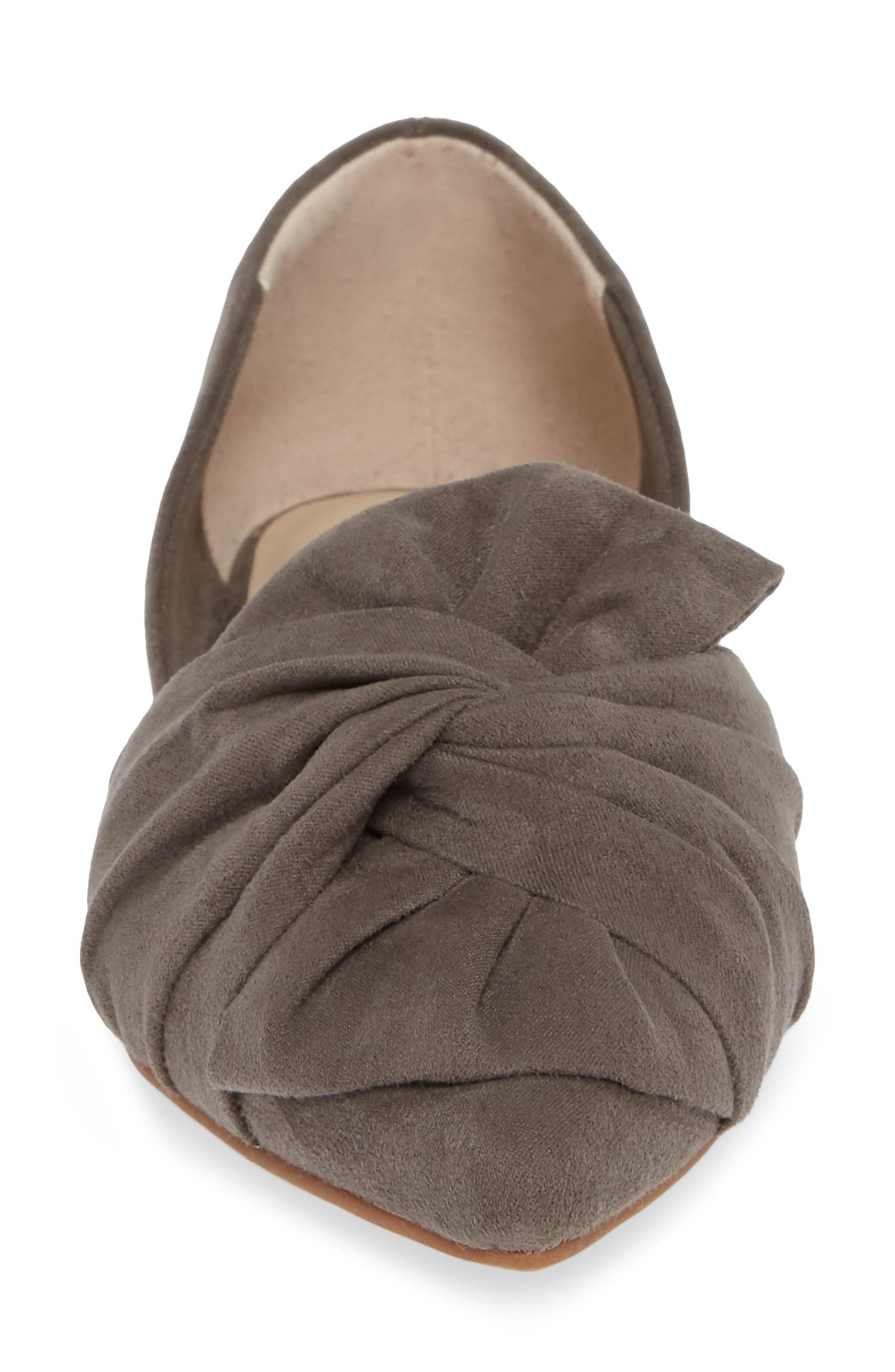 Snow Cone d'Orsay Flat,                             Alternate thumbnail 4, color,                             GREY SUEDE