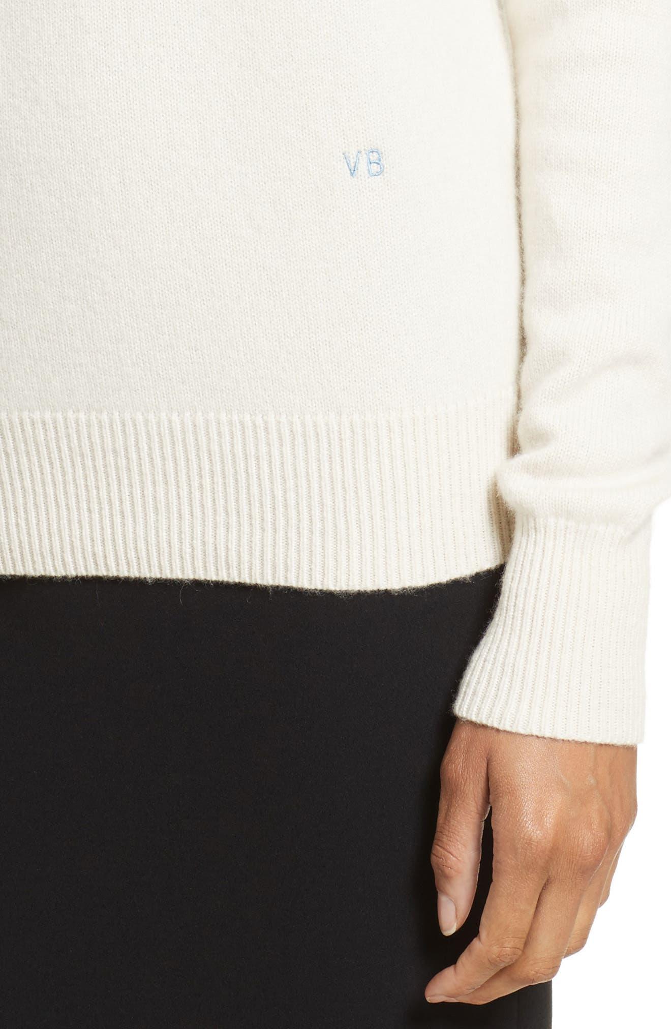 Cashmere Turtleneck Sweater,                             Alternate thumbnail 4, color,                             VANILLA