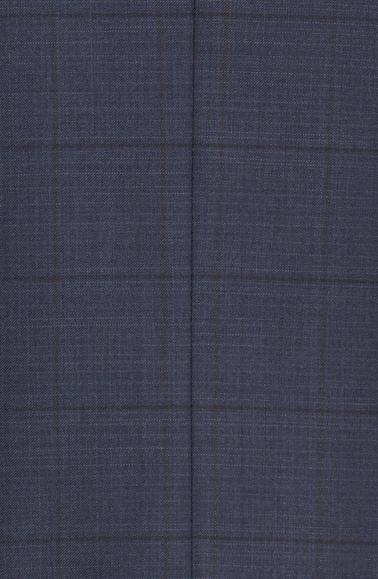 Flynn Classic Fit Windowpane Wool Suit,                             Alternate thumbnail 7, color,                             410