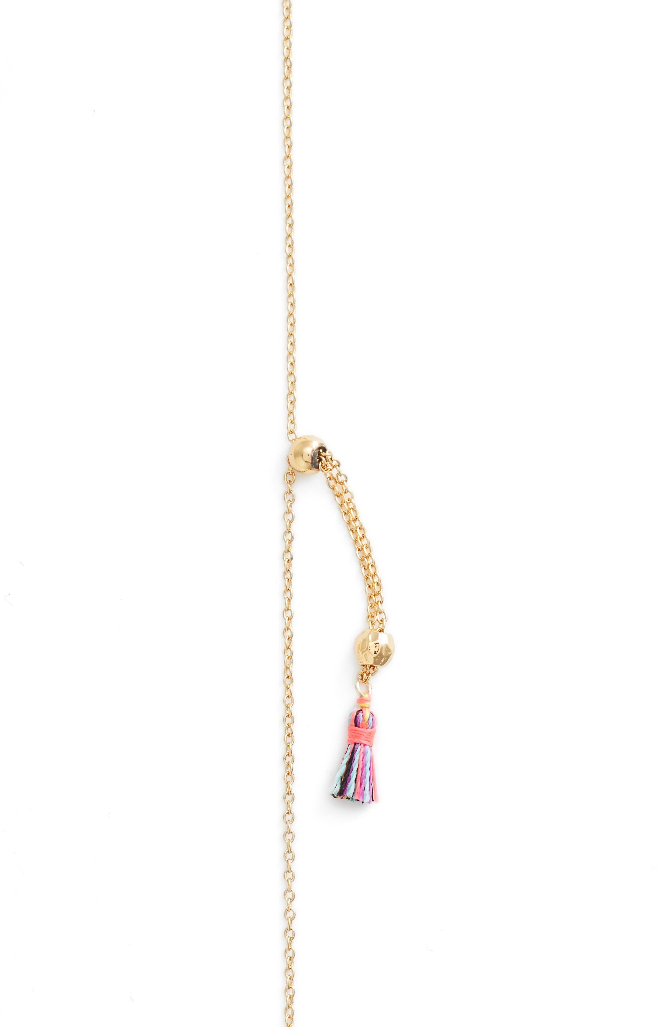 Havana Tassel Adjustable Necklace,                             Alternate thumbnail 3, color,                             TROPIC
