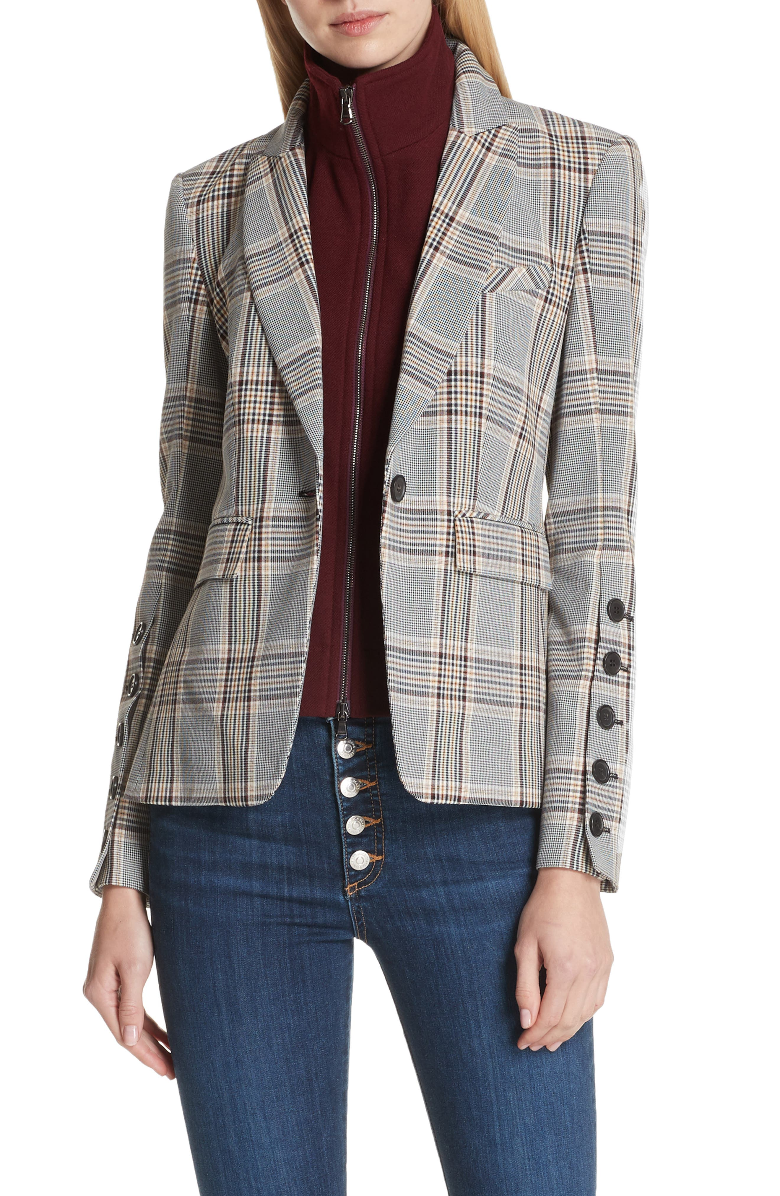 Steel Jacket with Removable Turtleneck Dickey,                             Main thumbnail 1, color,                             240