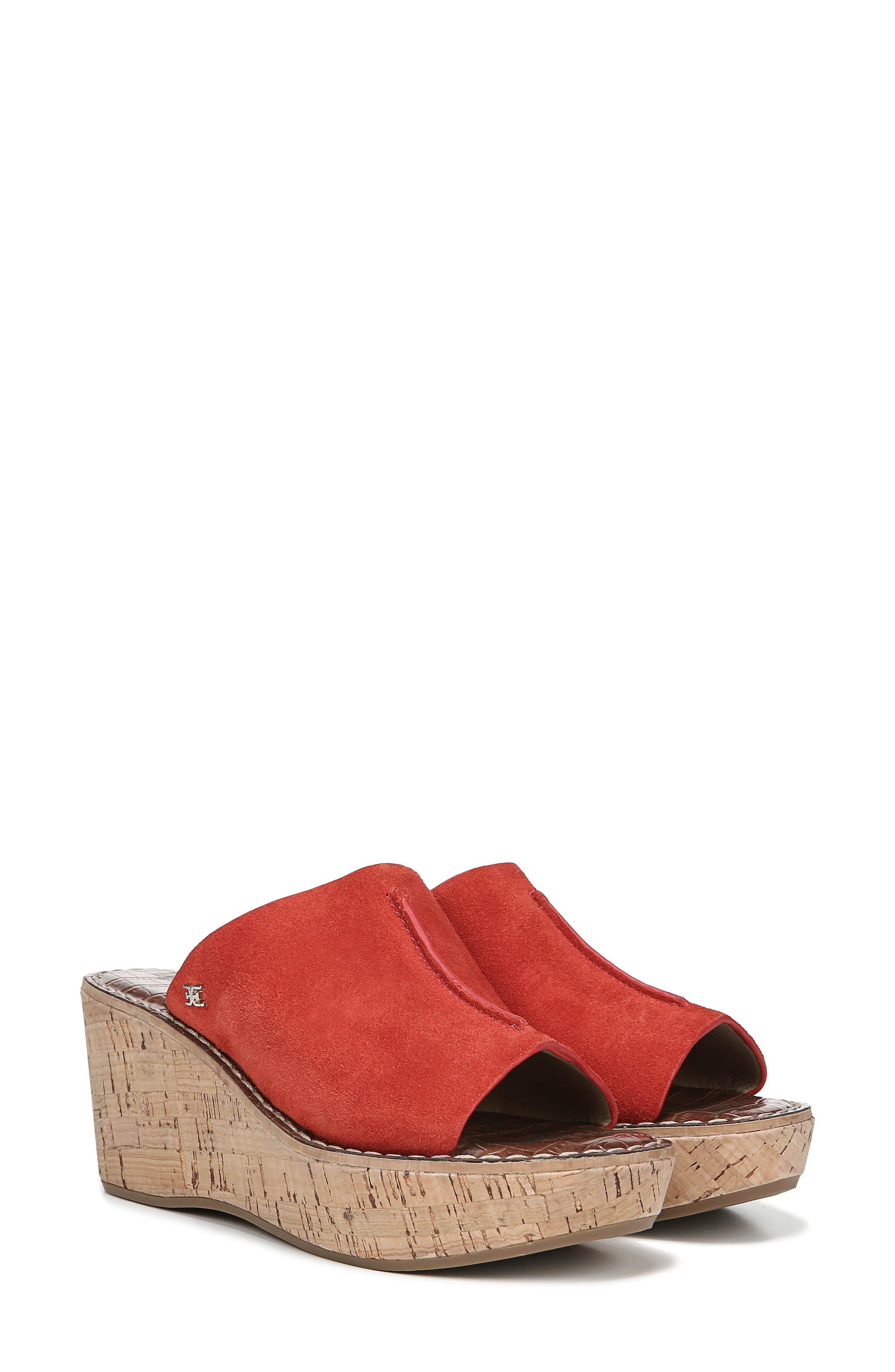 Ranger Platform Sandal,                             Alternate thumbnail 9, color,                             CANDY RED SUEDE