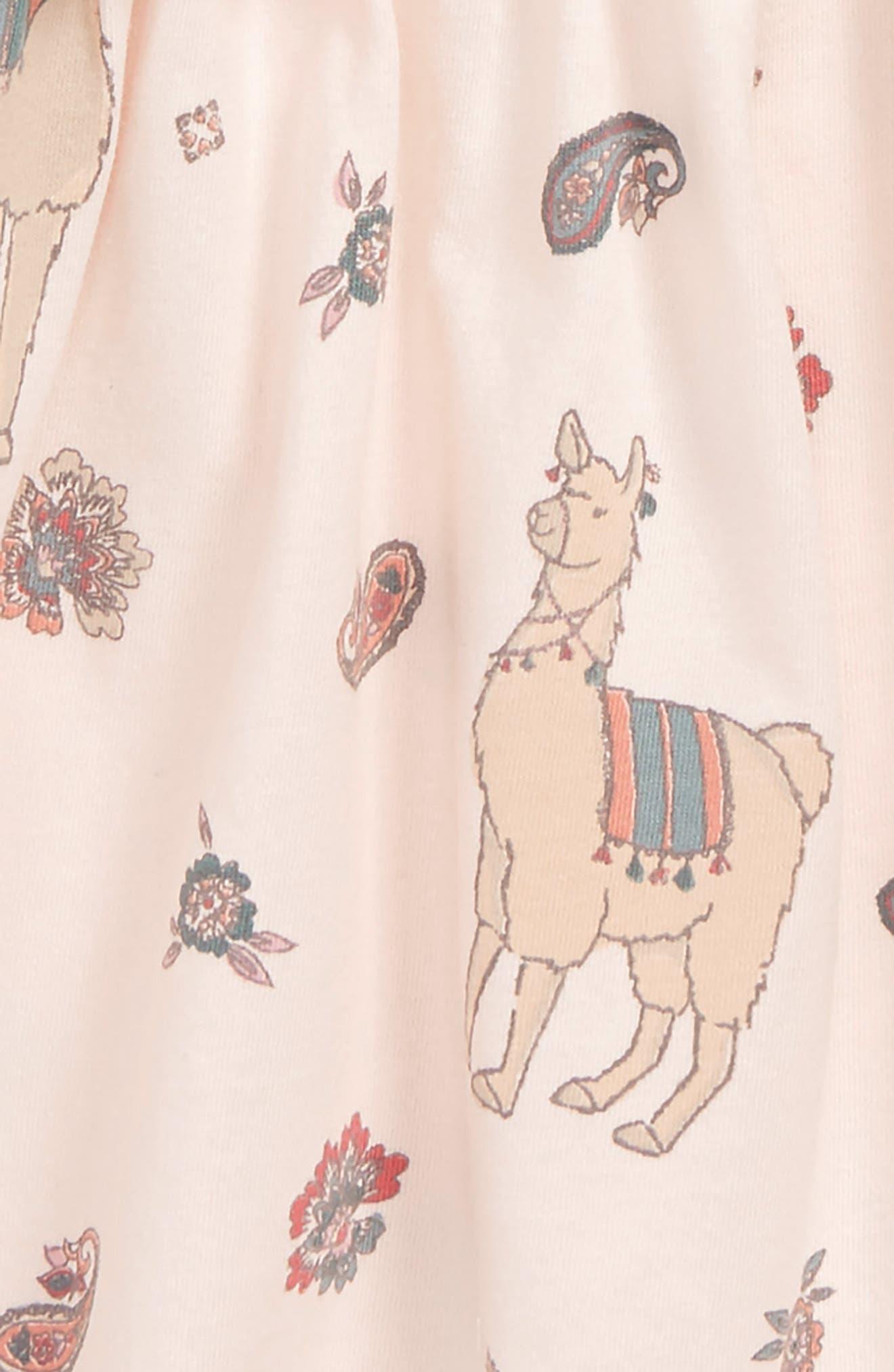 Peek Llama Dress,                             Alternate thumbnail 2, color,                             650
