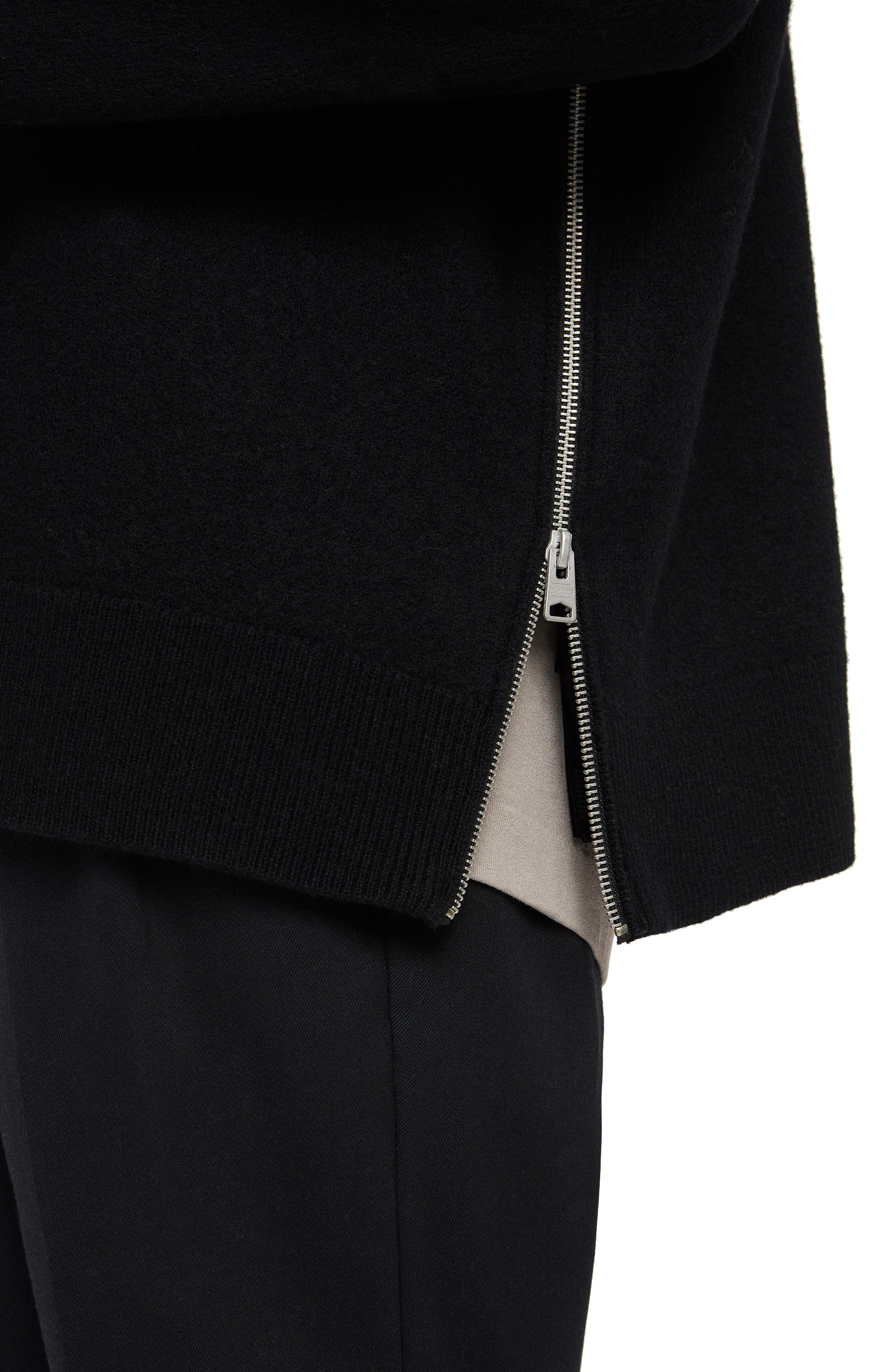 Maine Regular Fit Wool Sweater,                             Alternate thumbnail 3, color,                             BLACK