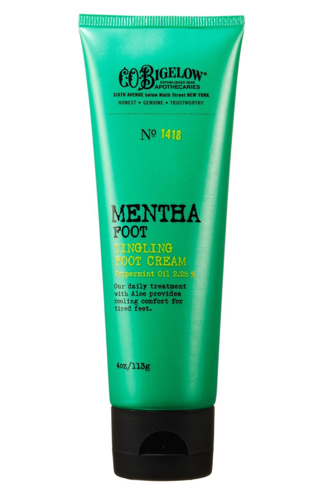 Mentha Tingling Foot Cream,                             Main thumbnail 1, color,                             000