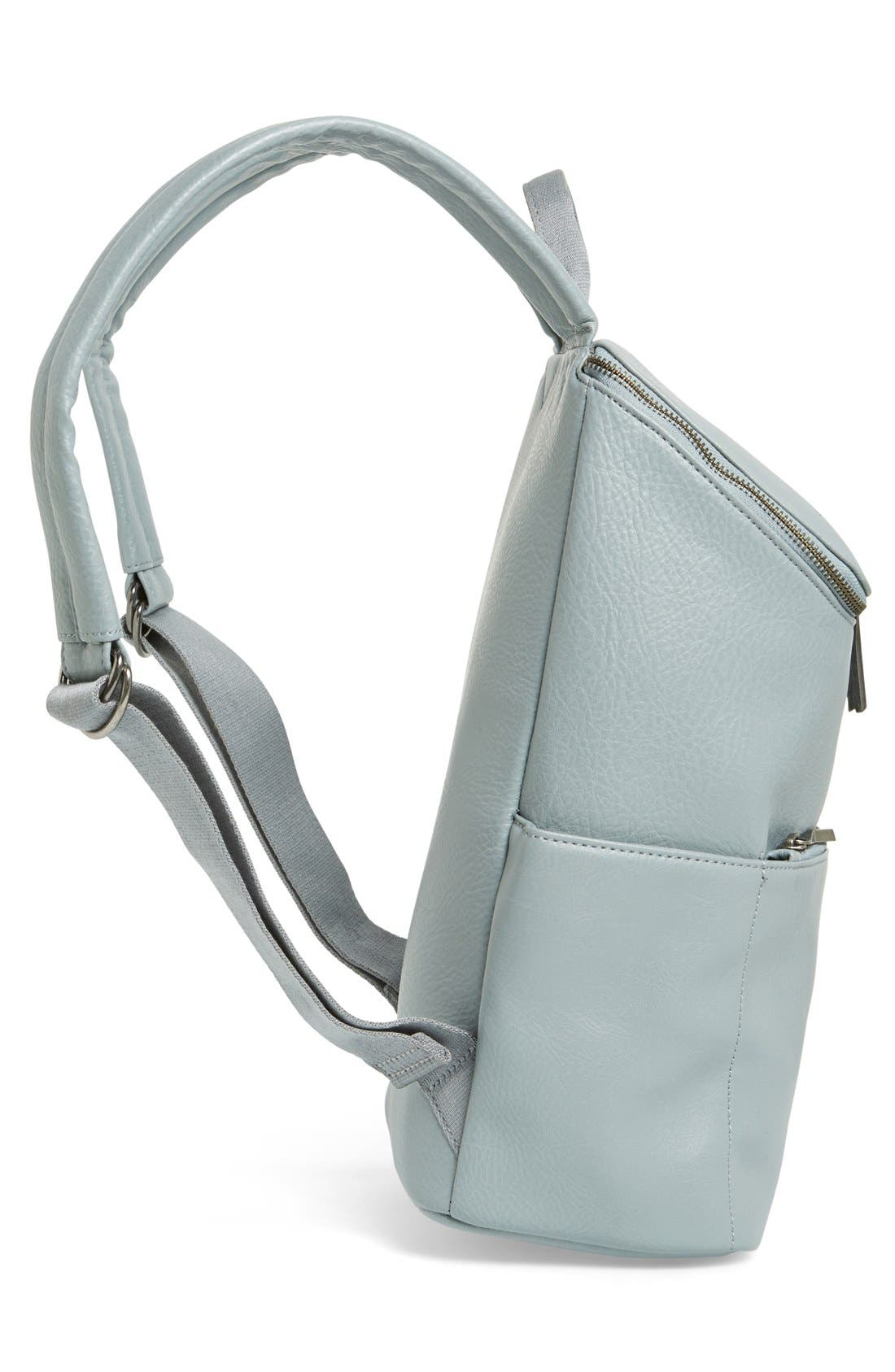 'Brave' Faux Leather Backpack,                             Alternate thumbnail 26, color,