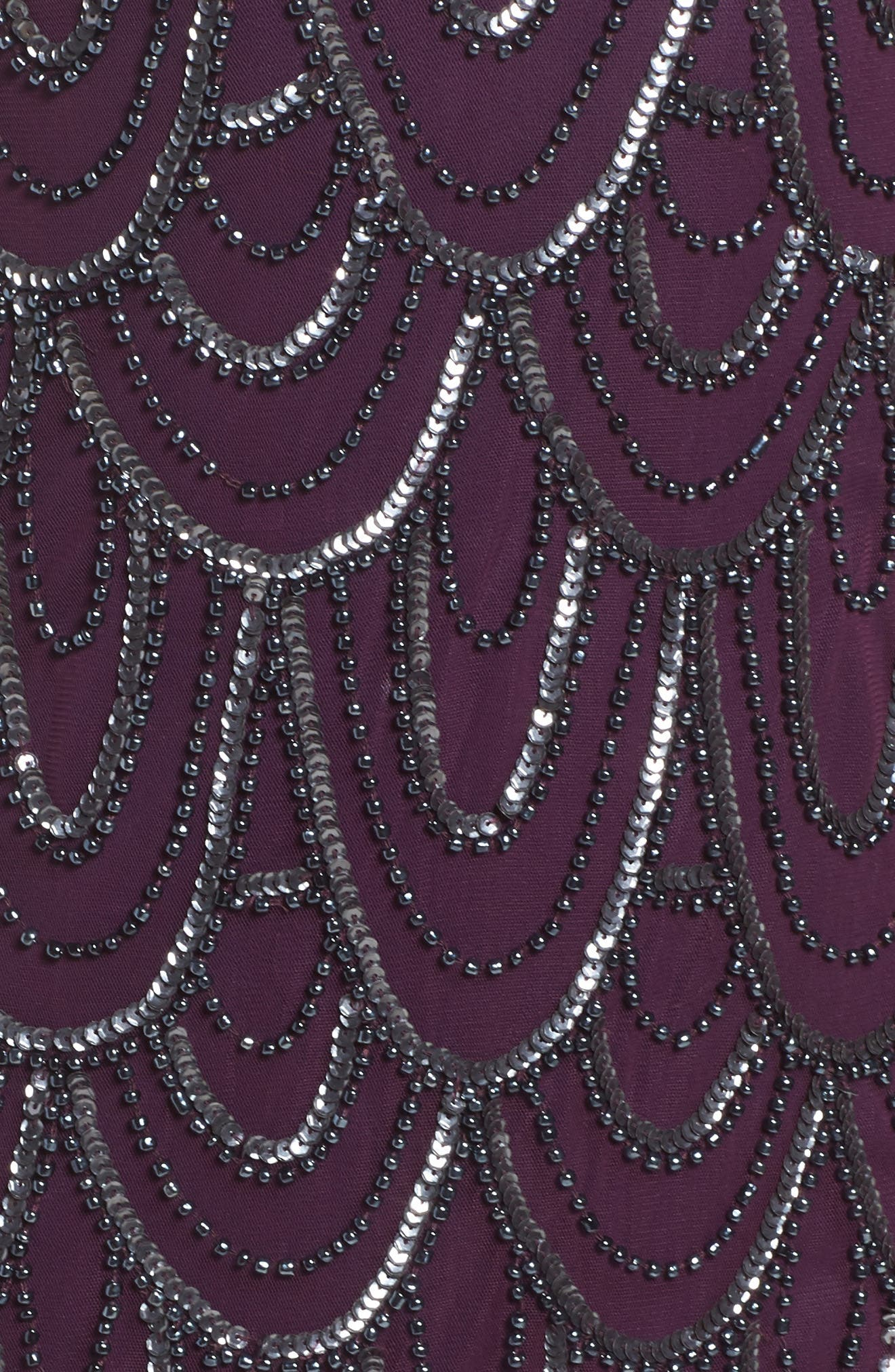 Embellished Mesh Sheath Dress,                             Alternate thumbnail 95, color,