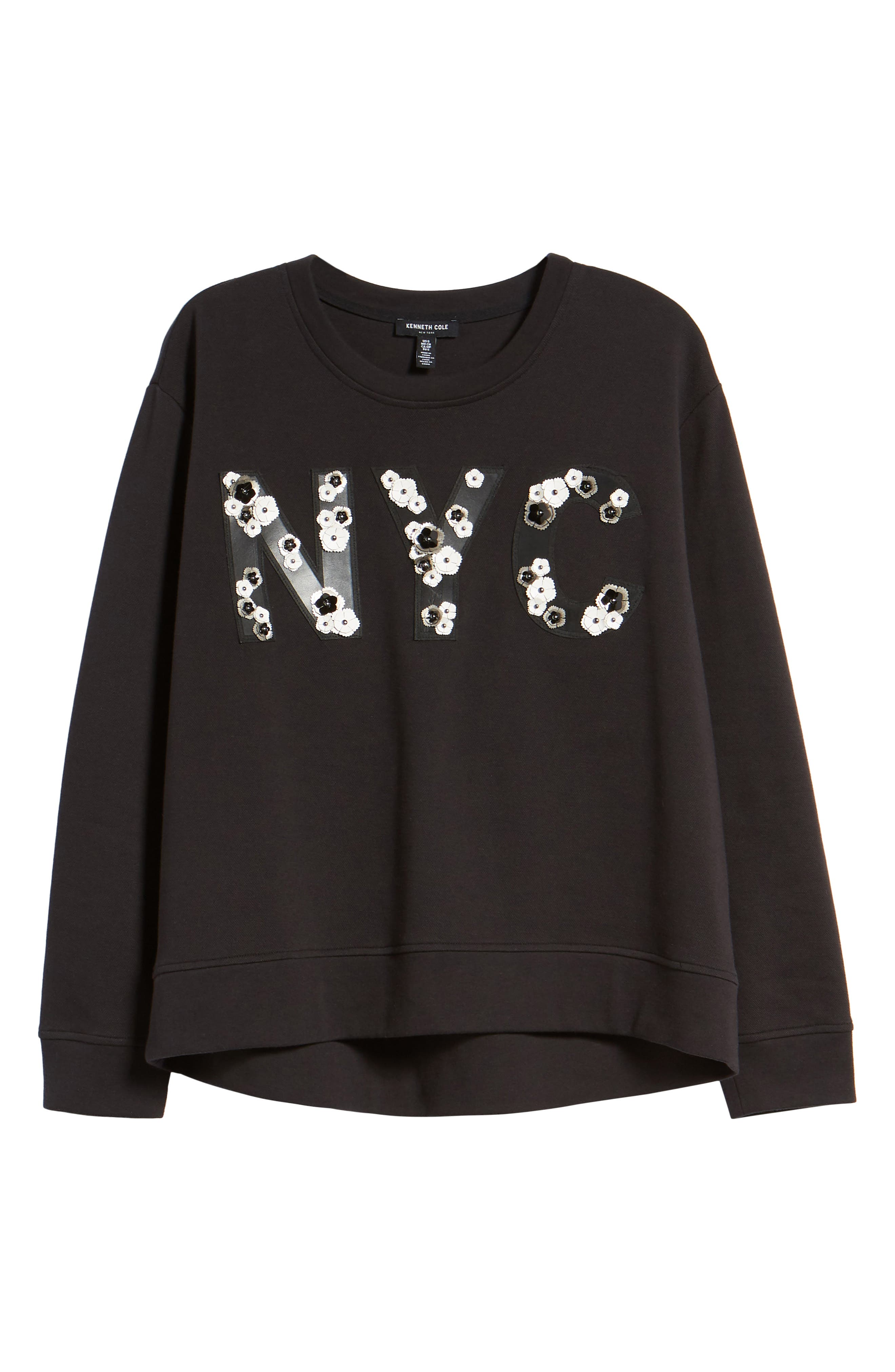 NYC Sweatshirt,                             Alternate thumbnail 7, color,                             BLACK
