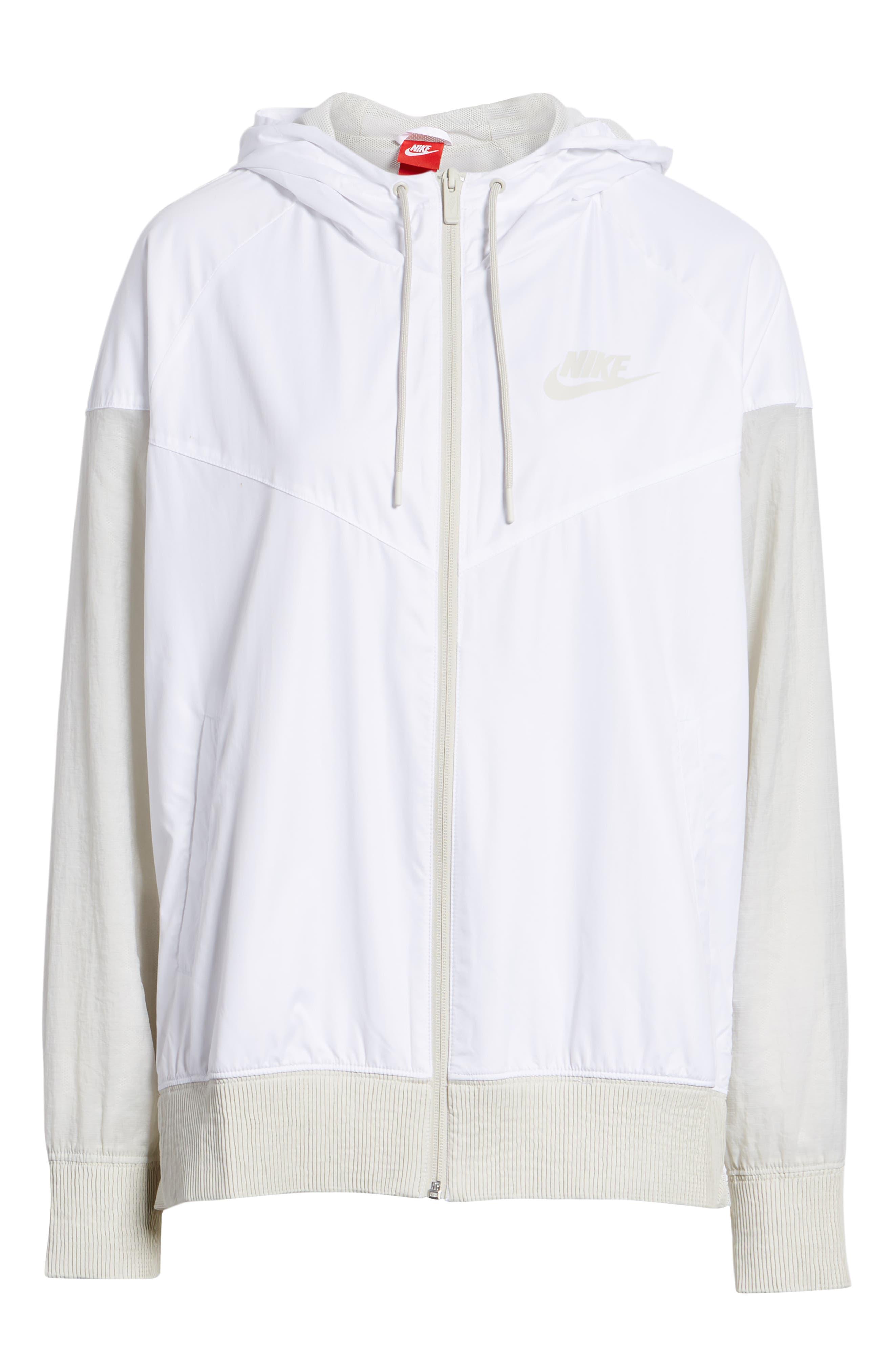 Sportswear Women's Windrunner Water Repellent Jacket,                             Main thumbnail 1, color,                             WHITE/ LIGHT BONE/ LIGHT BONE