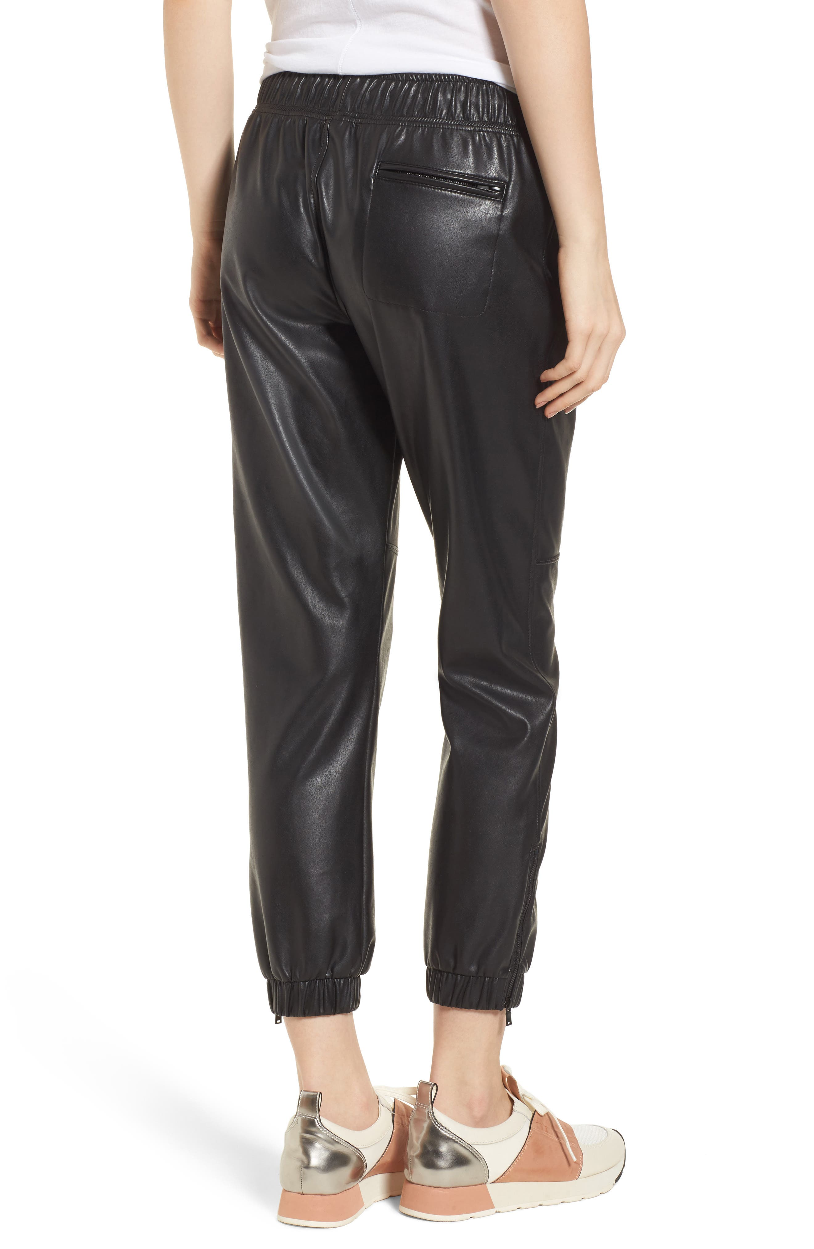 Ankle Zip Jogger Pants,                             Alternate thumbnail 2, color,                             BLACK