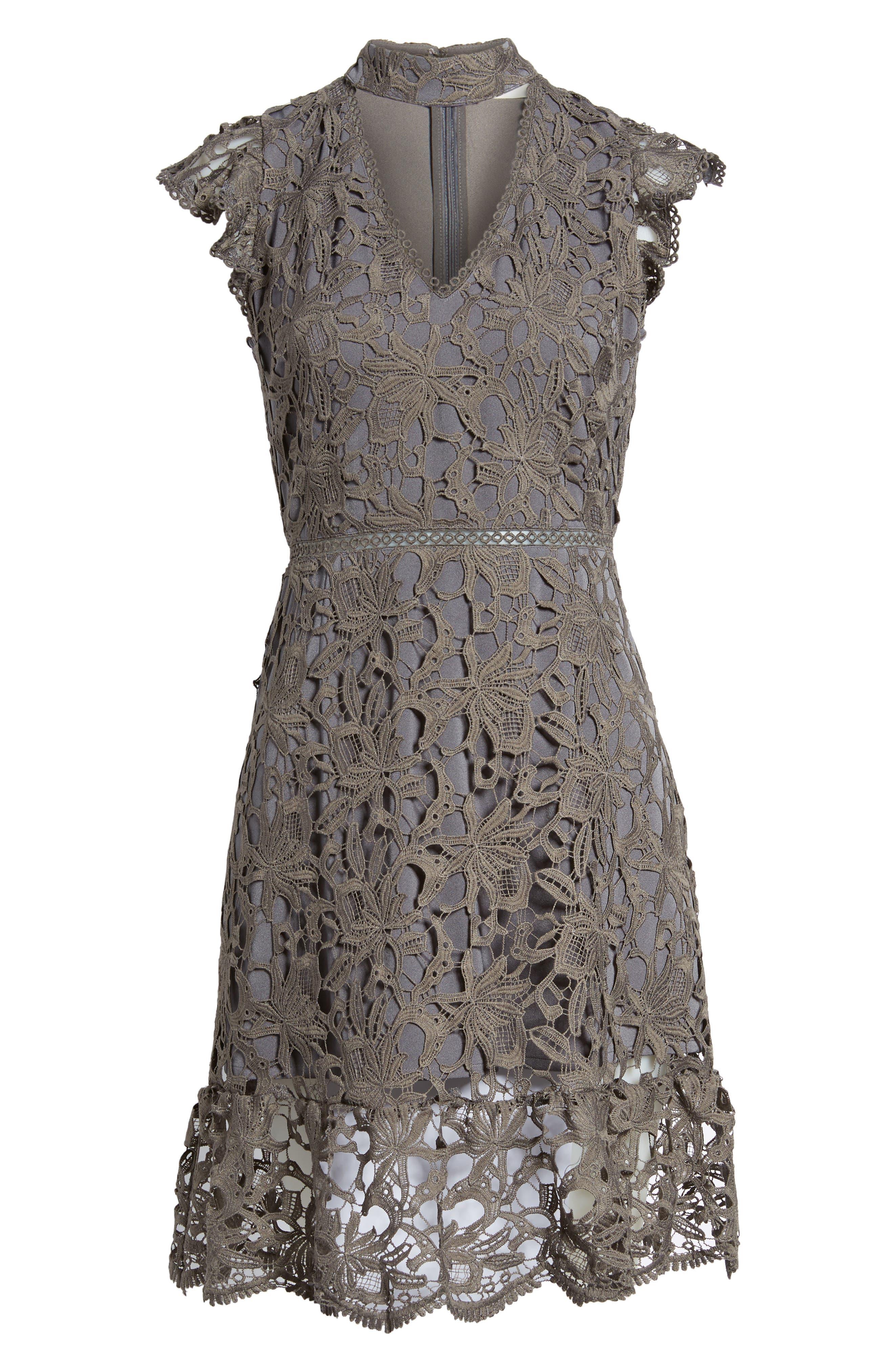 Choker Lace Dress,                             Alternate thumbnail 6, color,                             020
