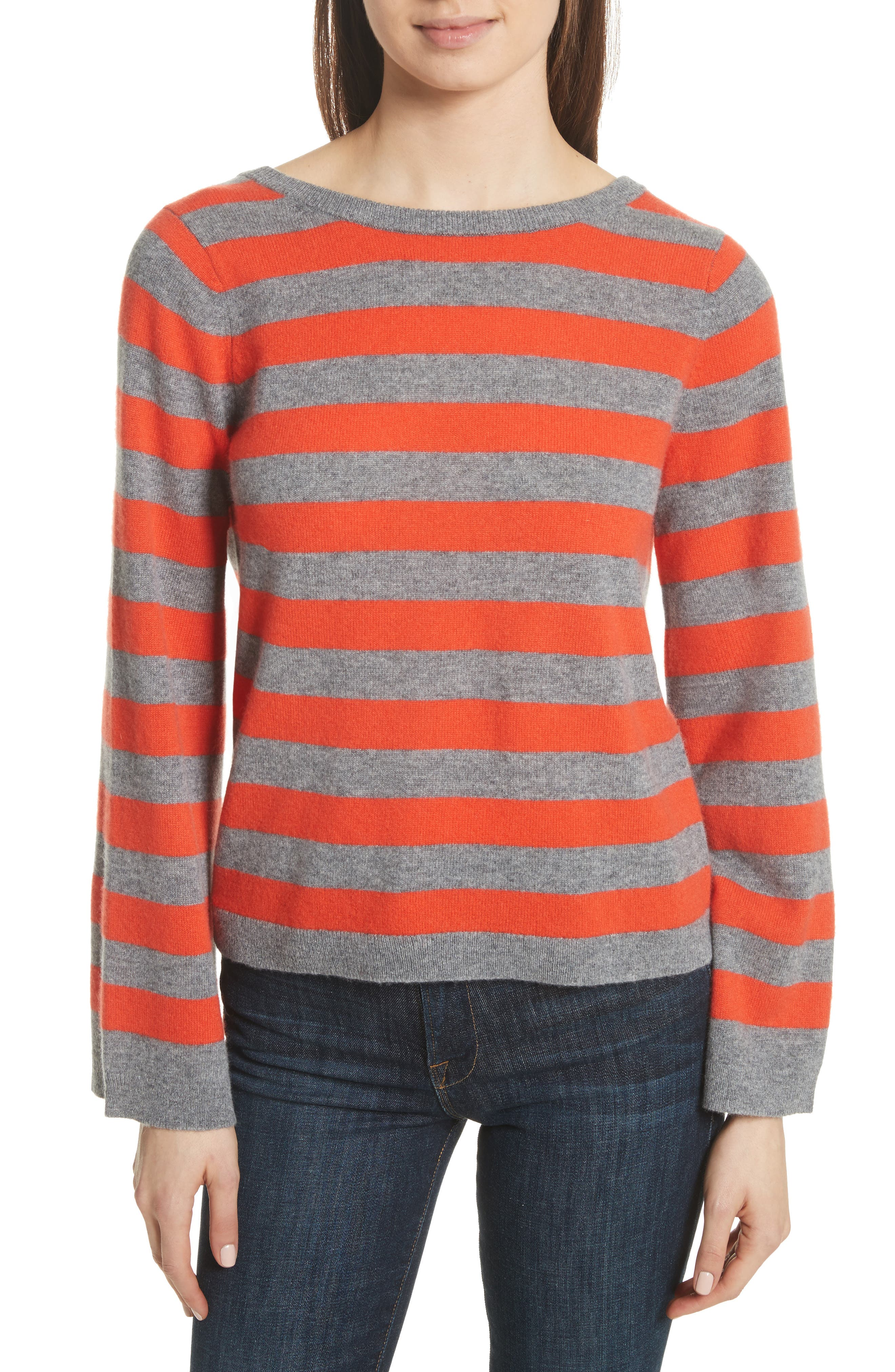Baxley Stripe Cashmere Sweater,                             Main thumbnail 1, color,