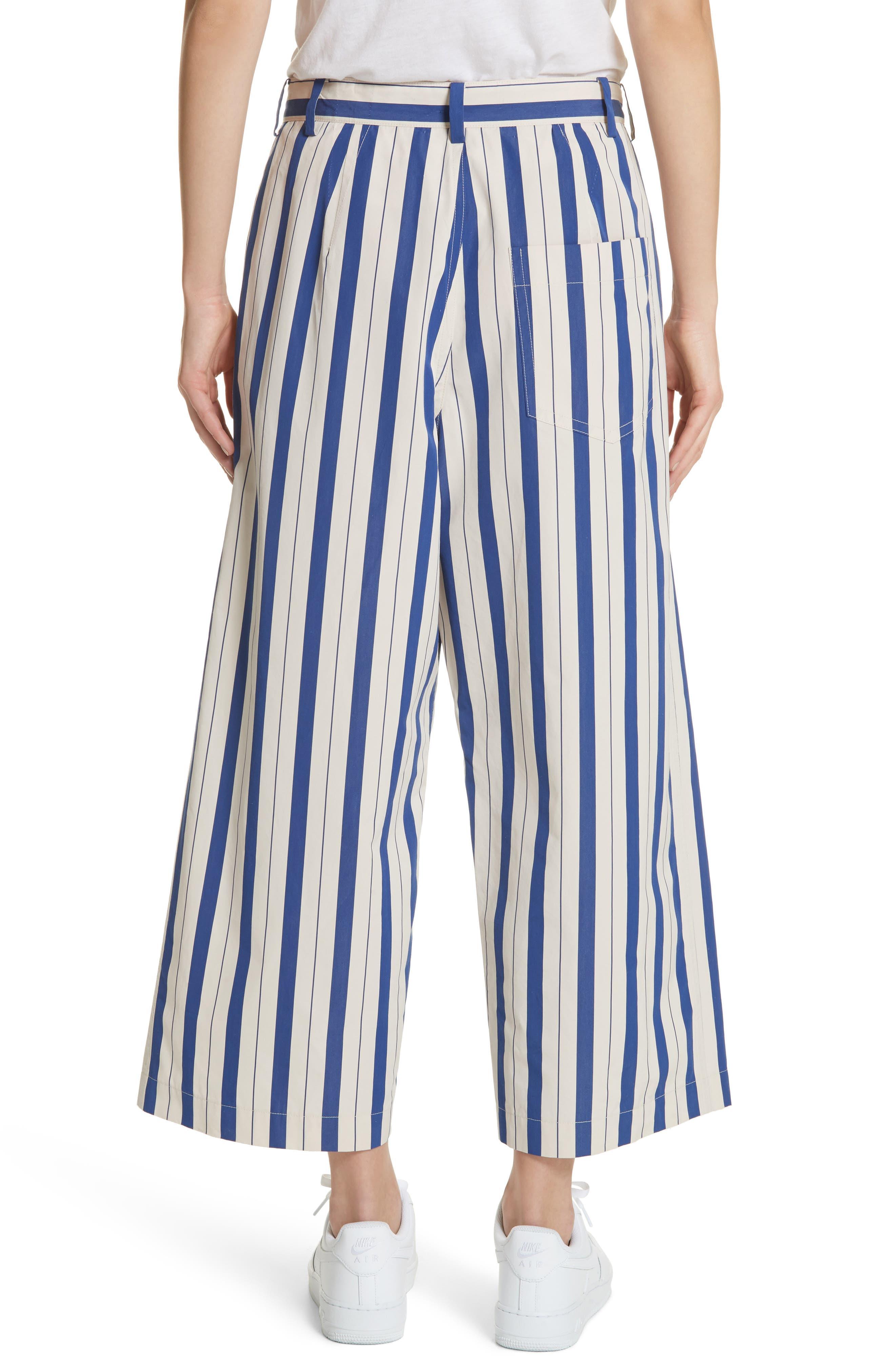 Stripe Wide Leg Pants,                             Alternate thumbnail 2, color,                             100