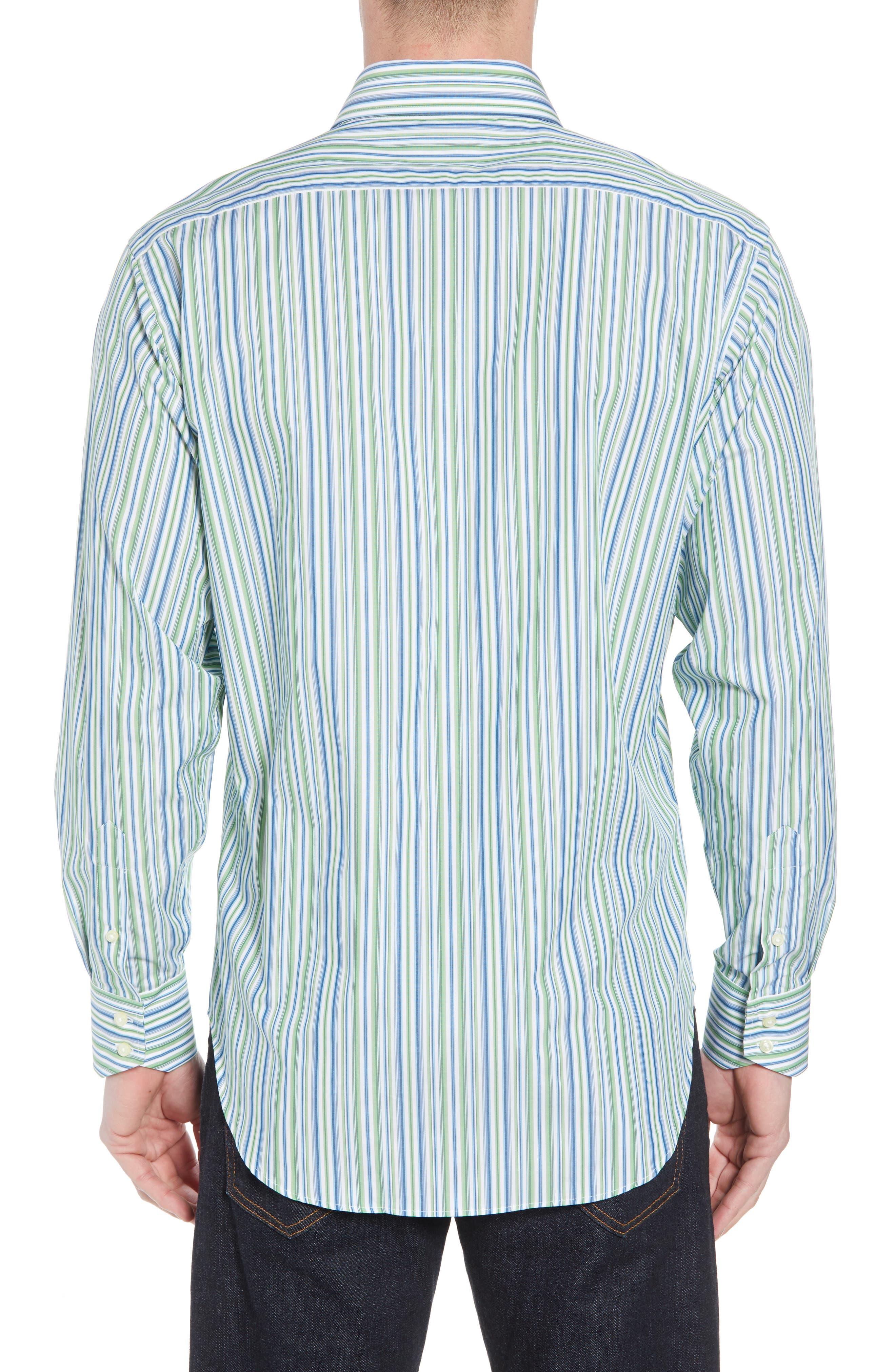 Regular Fit Stripe Sport Shirt,                             Alternate thumbnail 2, color,                             300