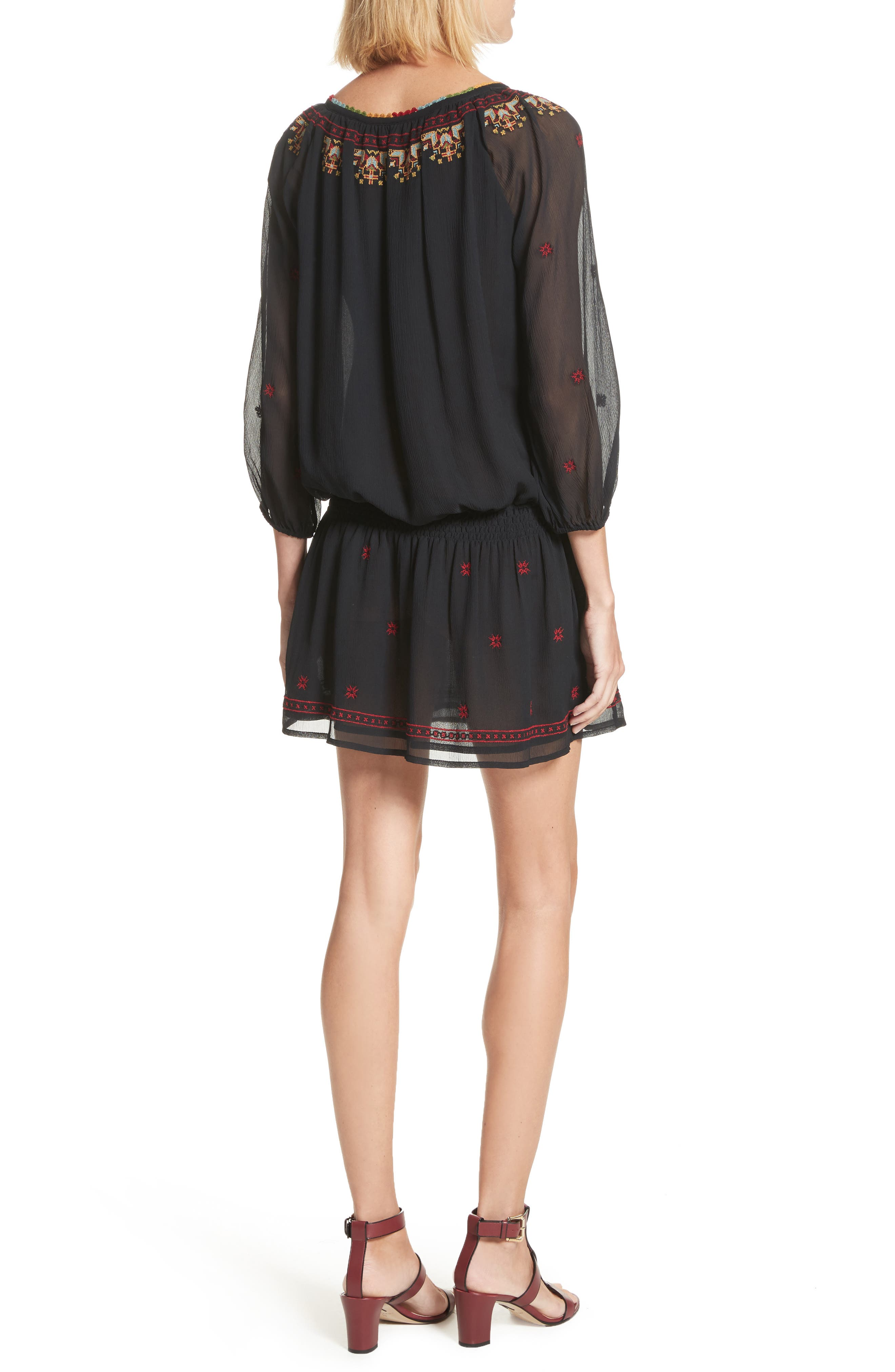 Geromine Blouson Silk Dress,                             Alternate thumbnail 2, color,                             003