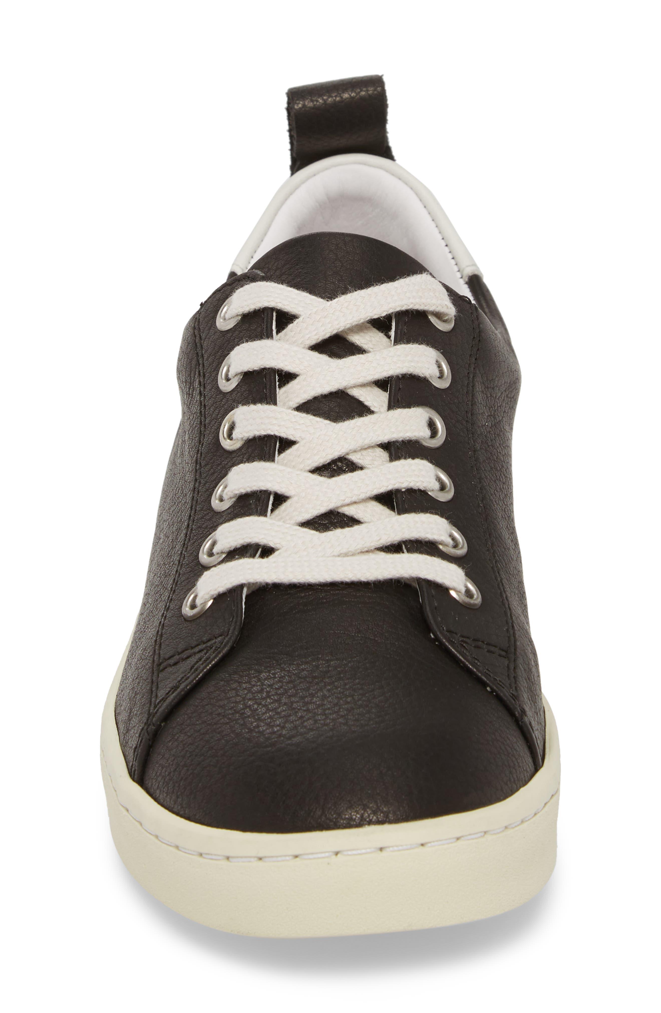 Maku Lace-Up Sneaker,                             Alternate thumbnail 4, color,                             BLACK BRITO LEATHER