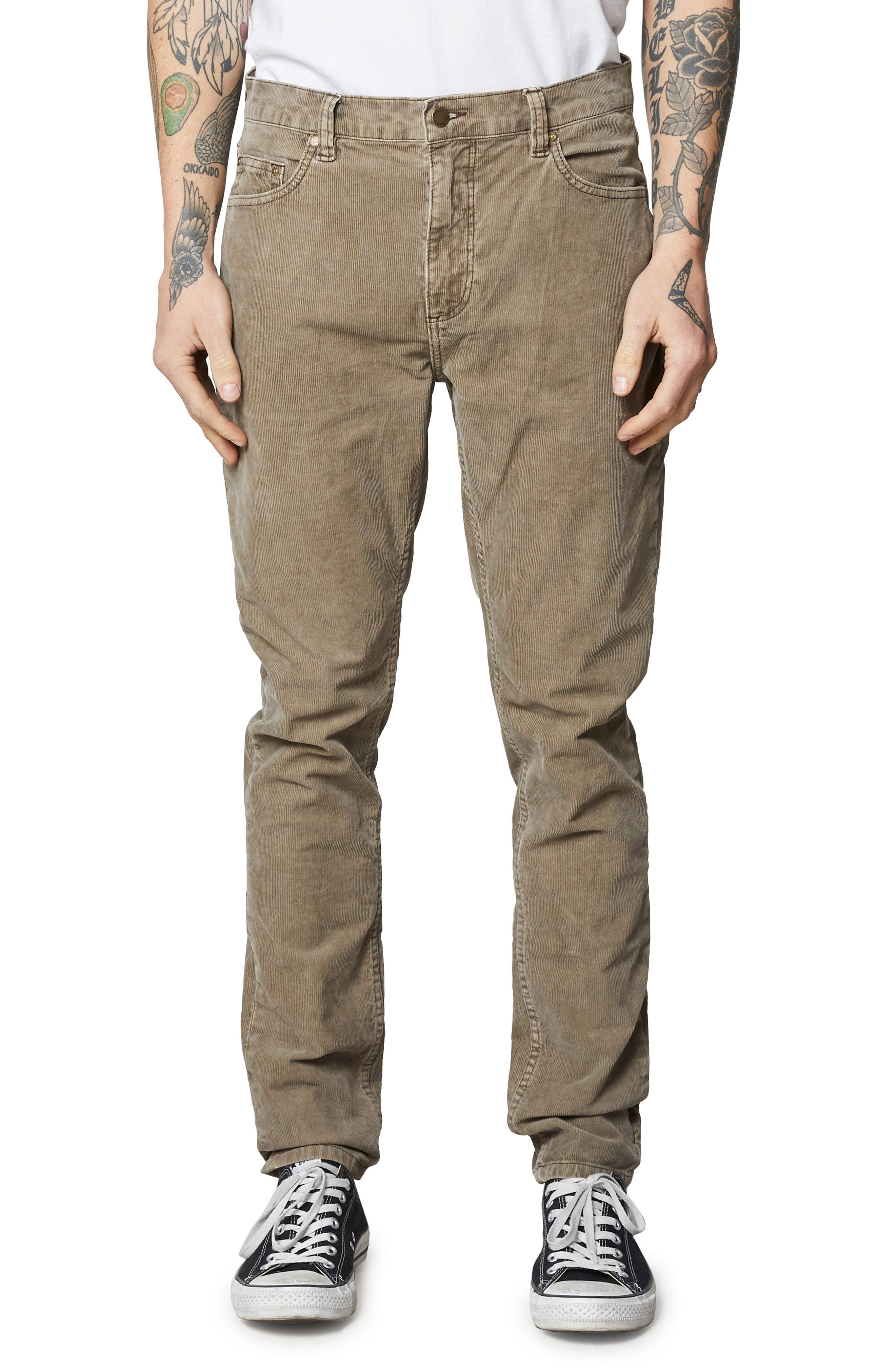 ROLLA'S Tim Slim Fit Jeans in Stone Cord