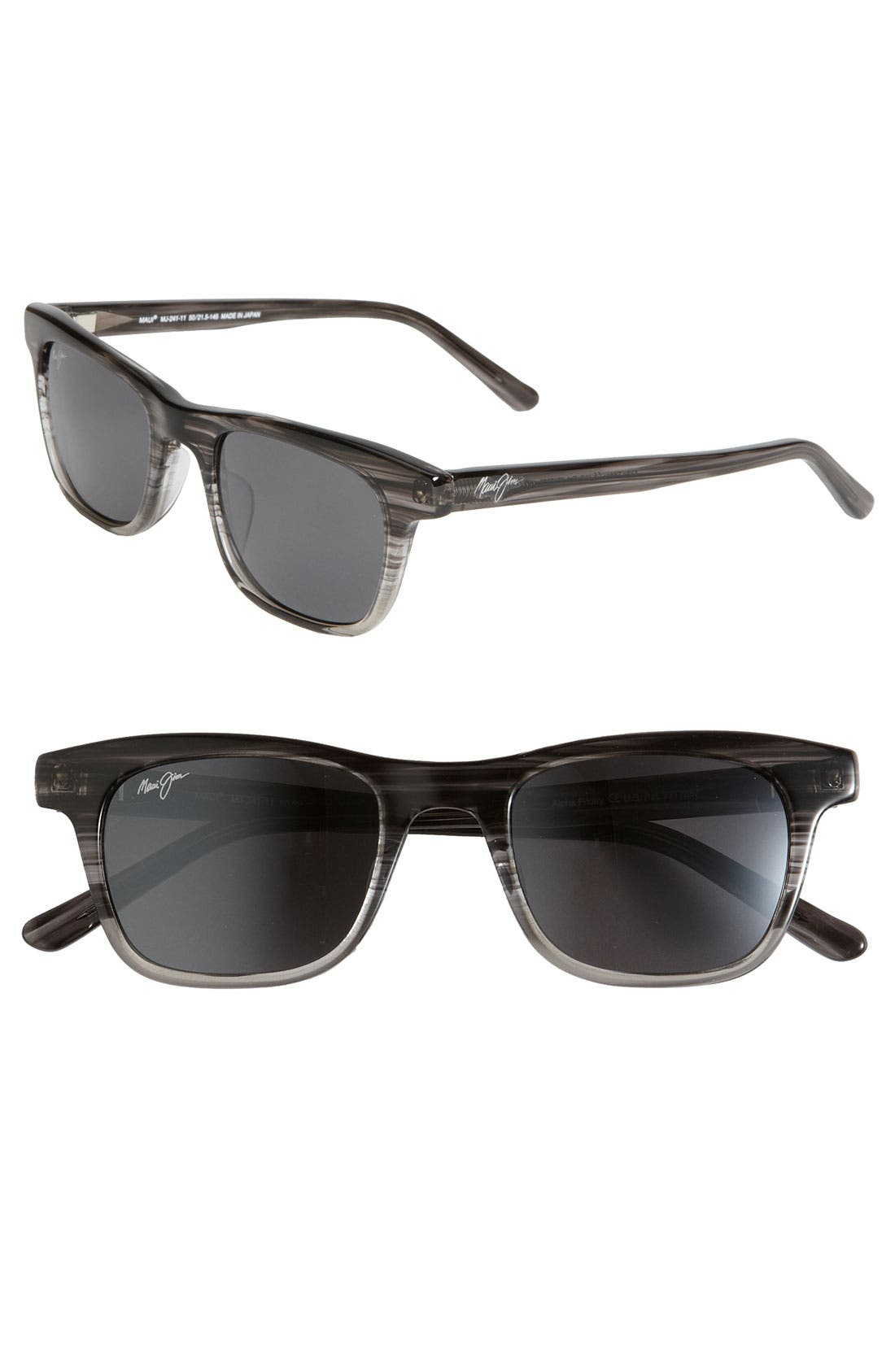 MAUI JIM 'Aloha Friday - PolarizedPlus<sup>®</sup>2' Retro Inspired Sunglasses, Main, color, 020