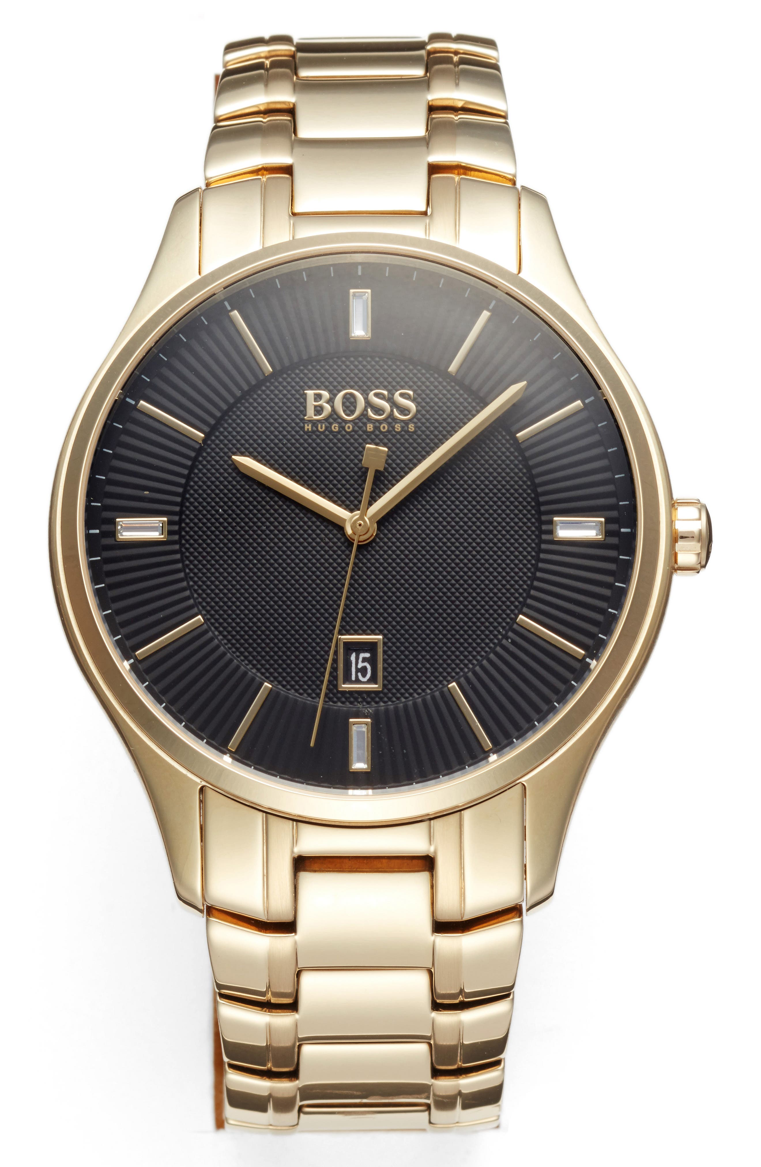 BOSS,                             Governor Bracelet Watch, 44mm,                             Main thumbnail 1, color,                             710