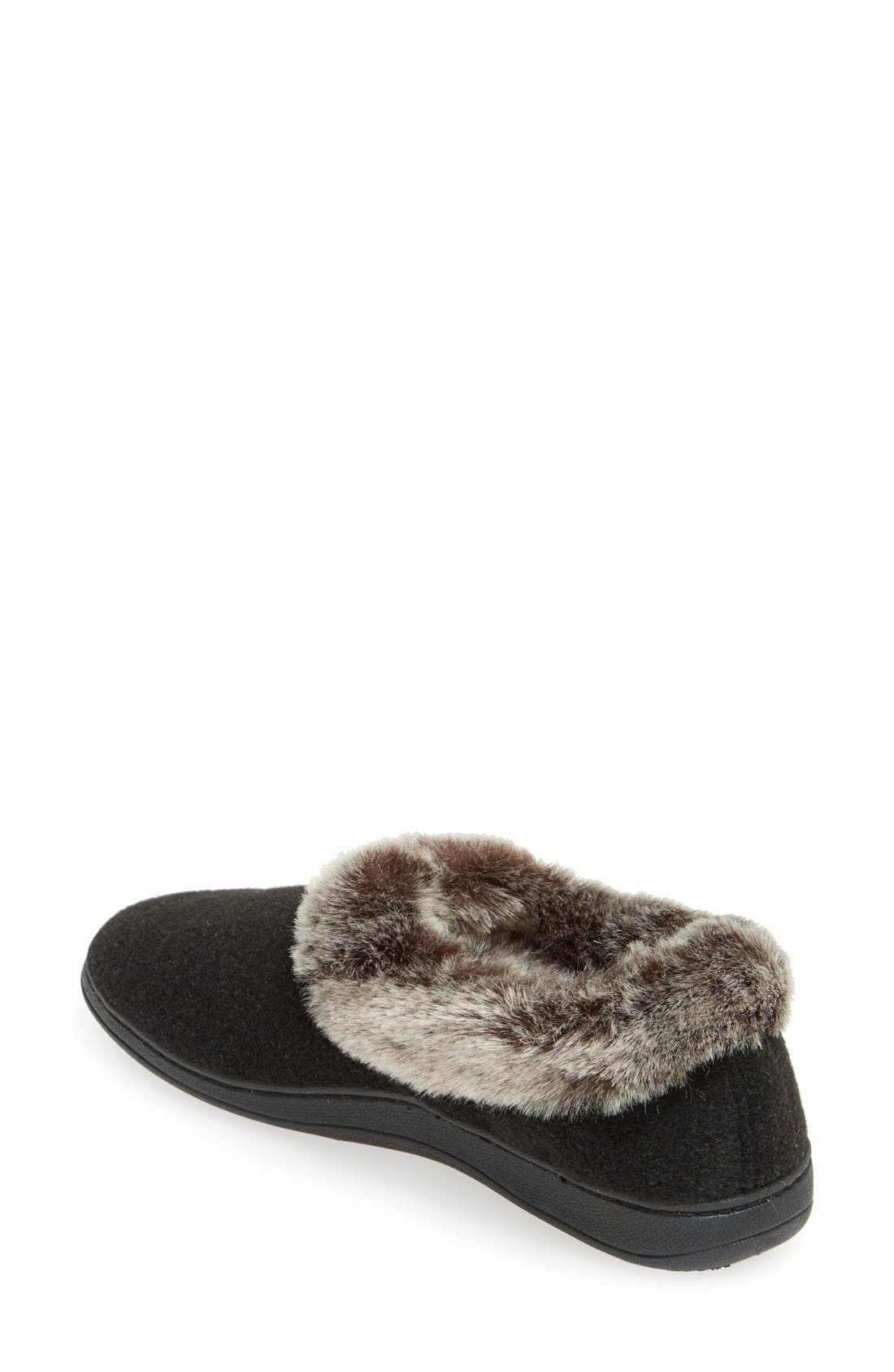 'Chinchilla Collar' Faux Fur Slipper,                             Alternate thumbnail 2, color,                             001