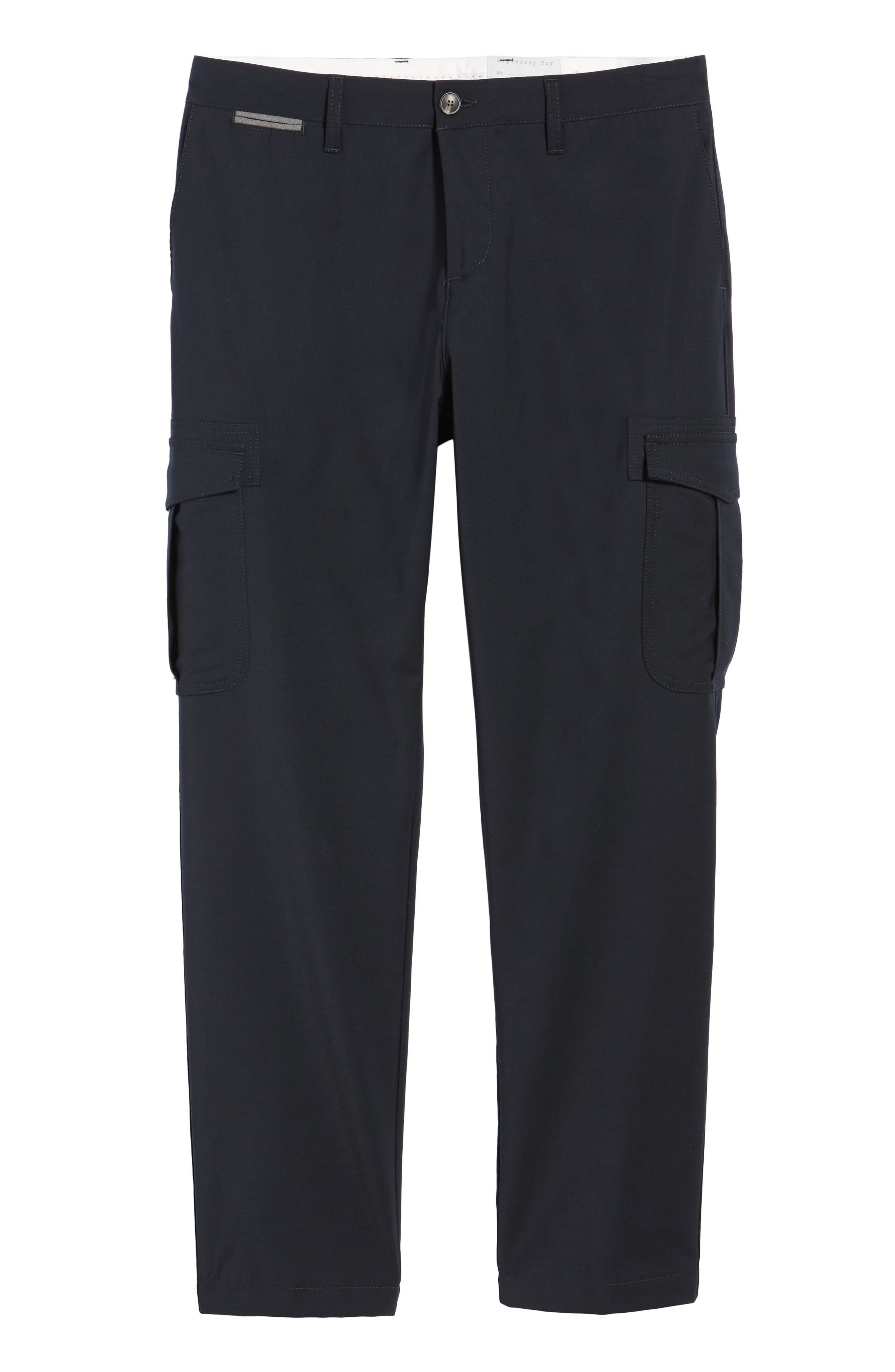 Stretch Wool Cargo Trousers,                             Alternate thumbnail 6, color,                             400