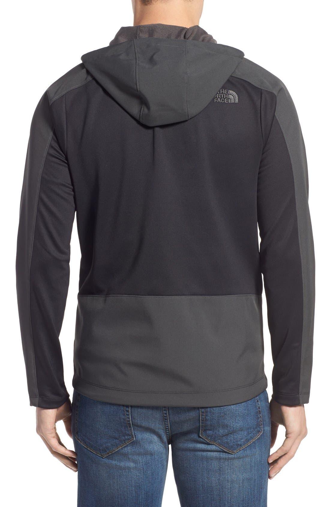 Tenacious Active Fit Hooded Jacket,                             Alternate thumbnail 2, color,                             010