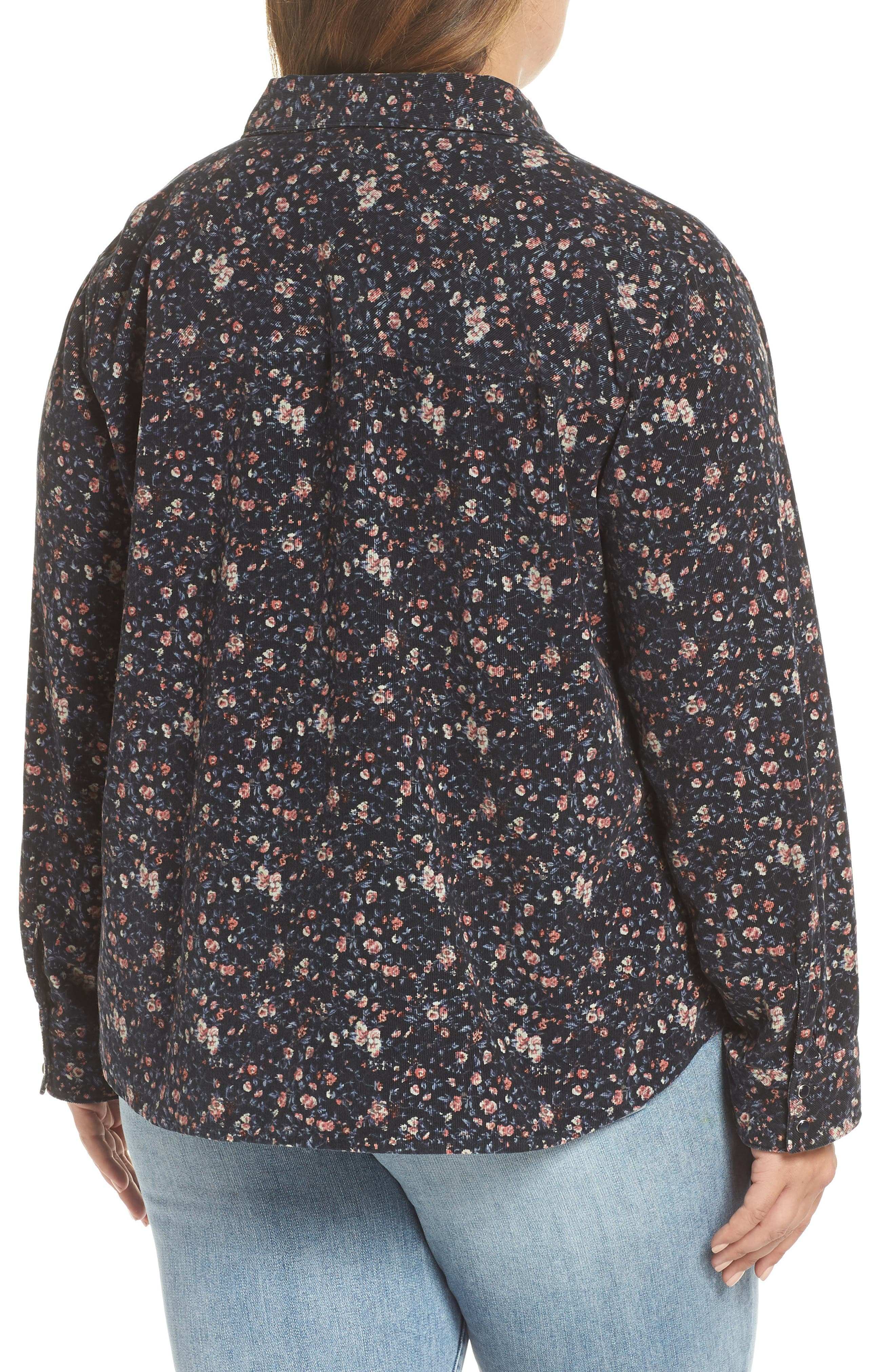 Floral Work Shirt,                             Alternate thumbnail 2, color,                             PIXIE REVL