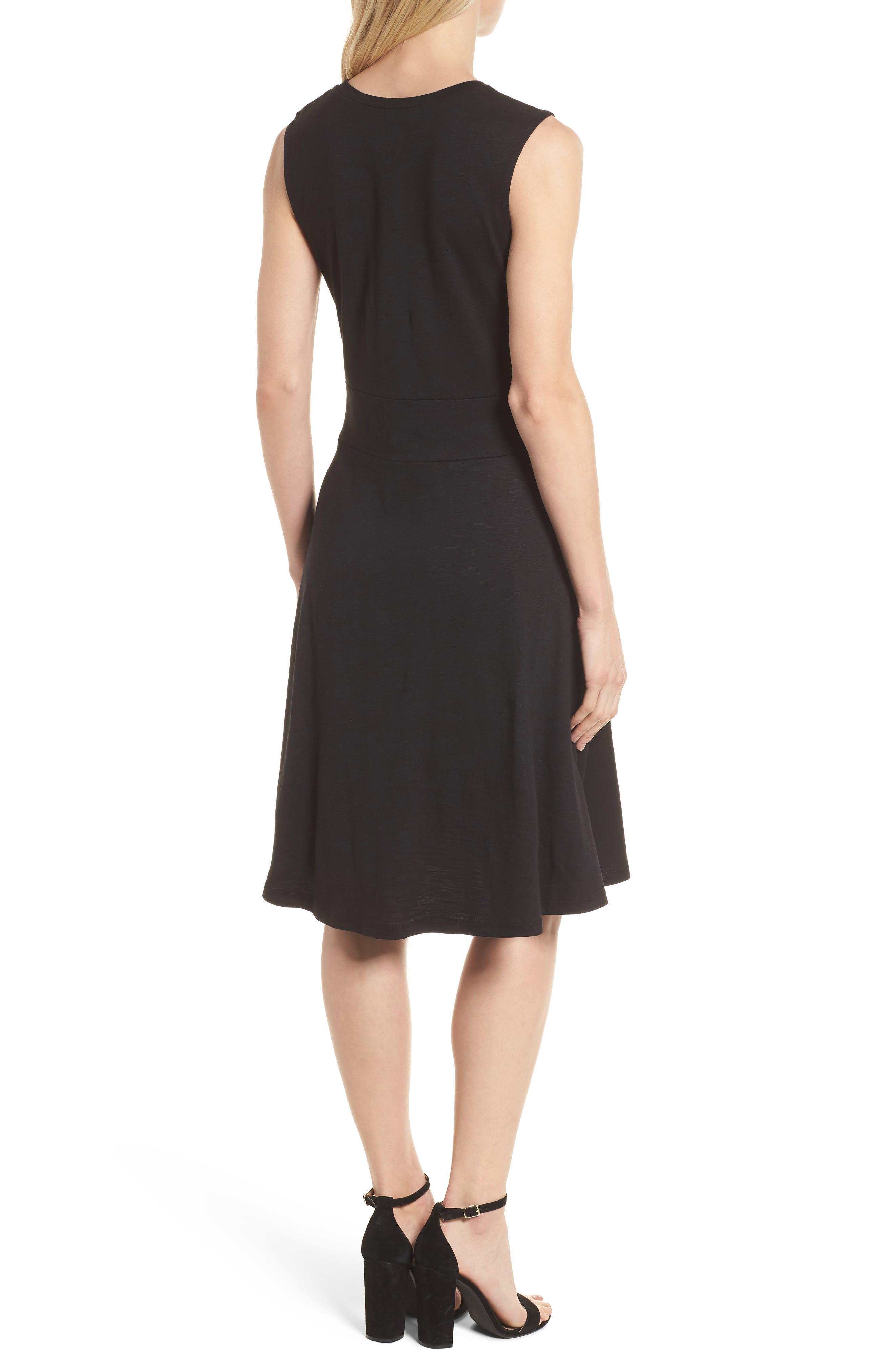 Twist Front Knit Dress,                             Alternate thumbnail 2, color,                             001