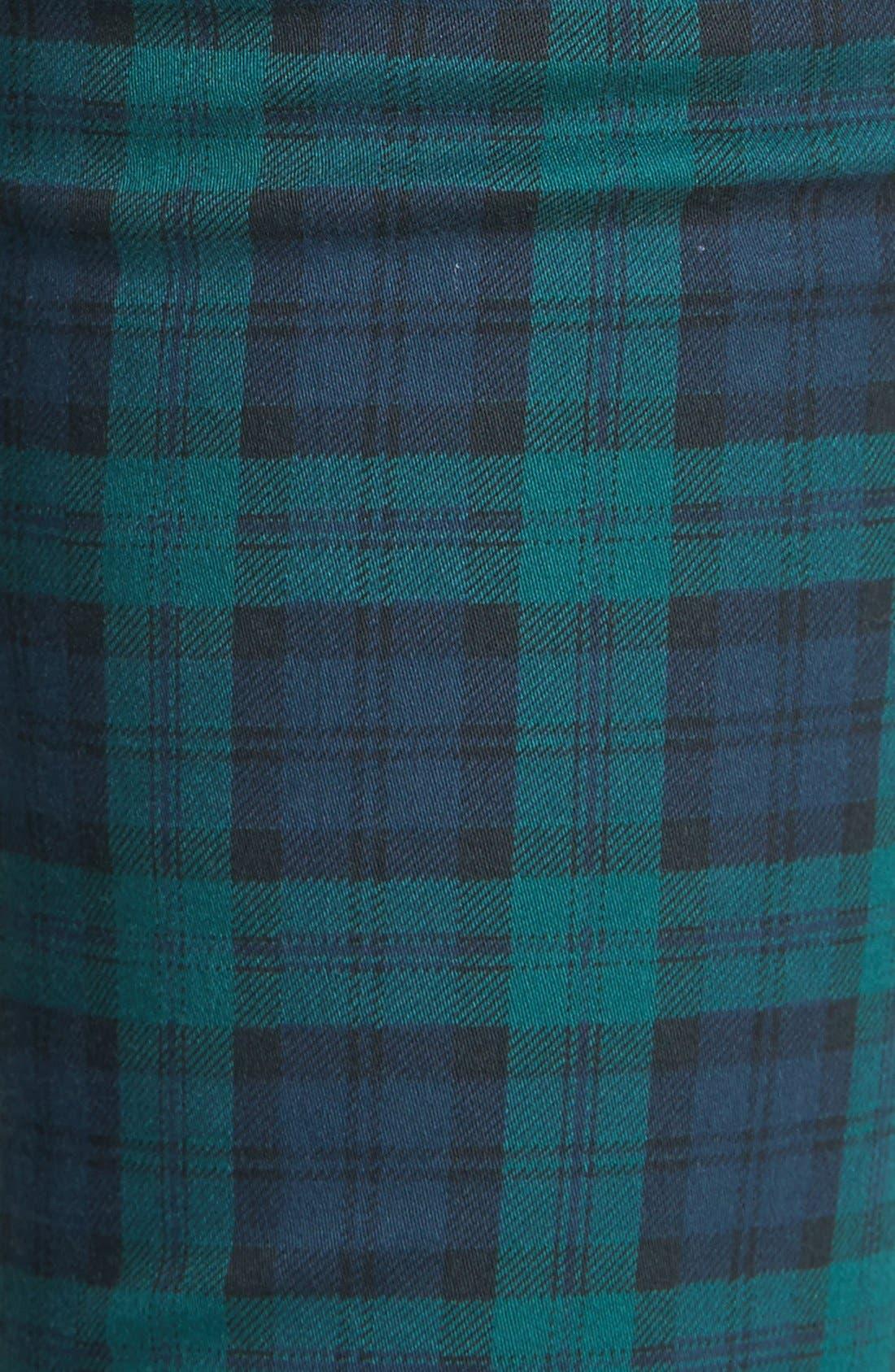 Plaid Skinny Pants,                             Alternate thumbnail 3, color,                             400