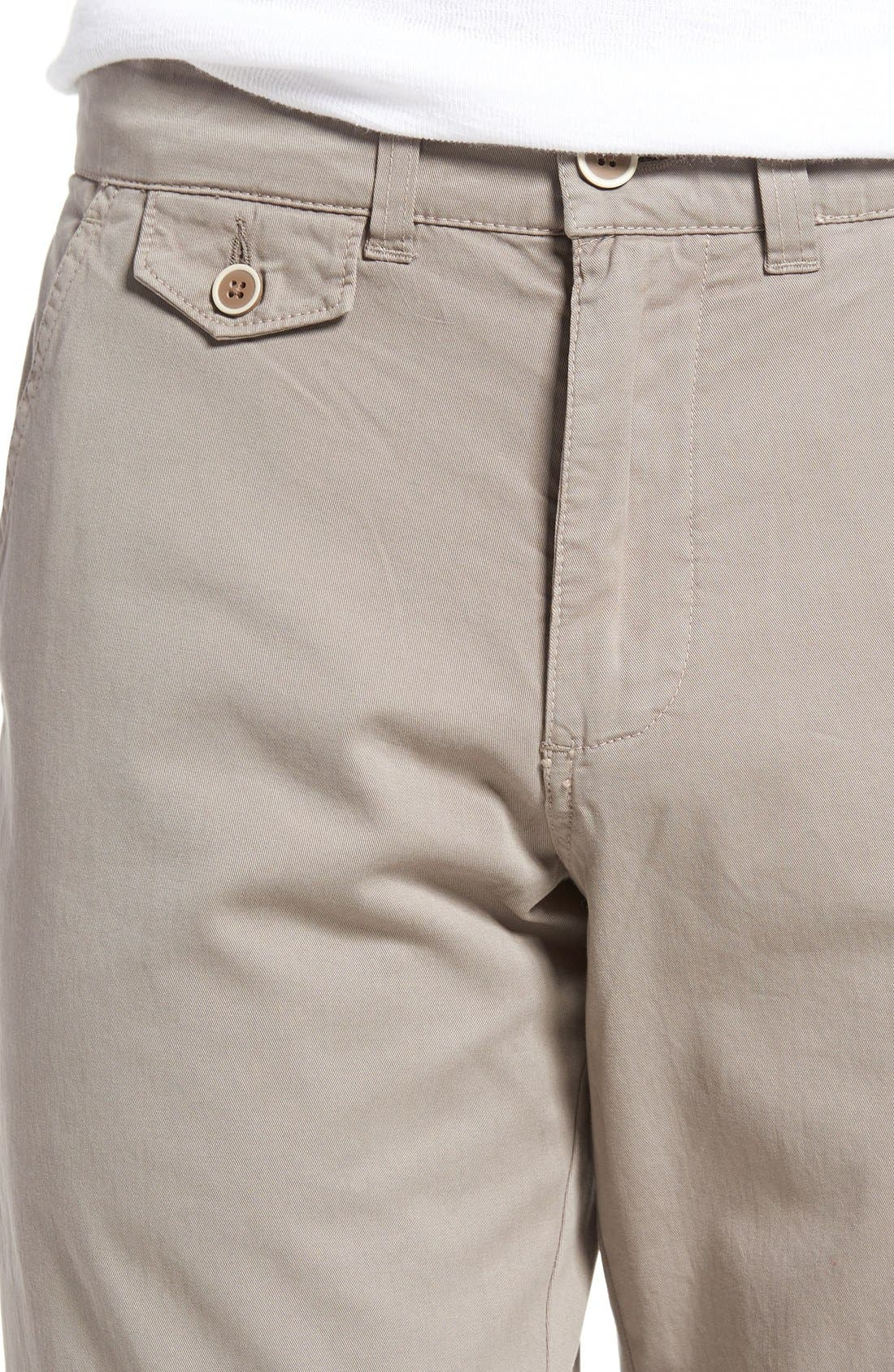 Sunny Modern Fit Stretch Twill Chinos,                             Alternate thumbnail 4, color,                             DUSTY SILVER