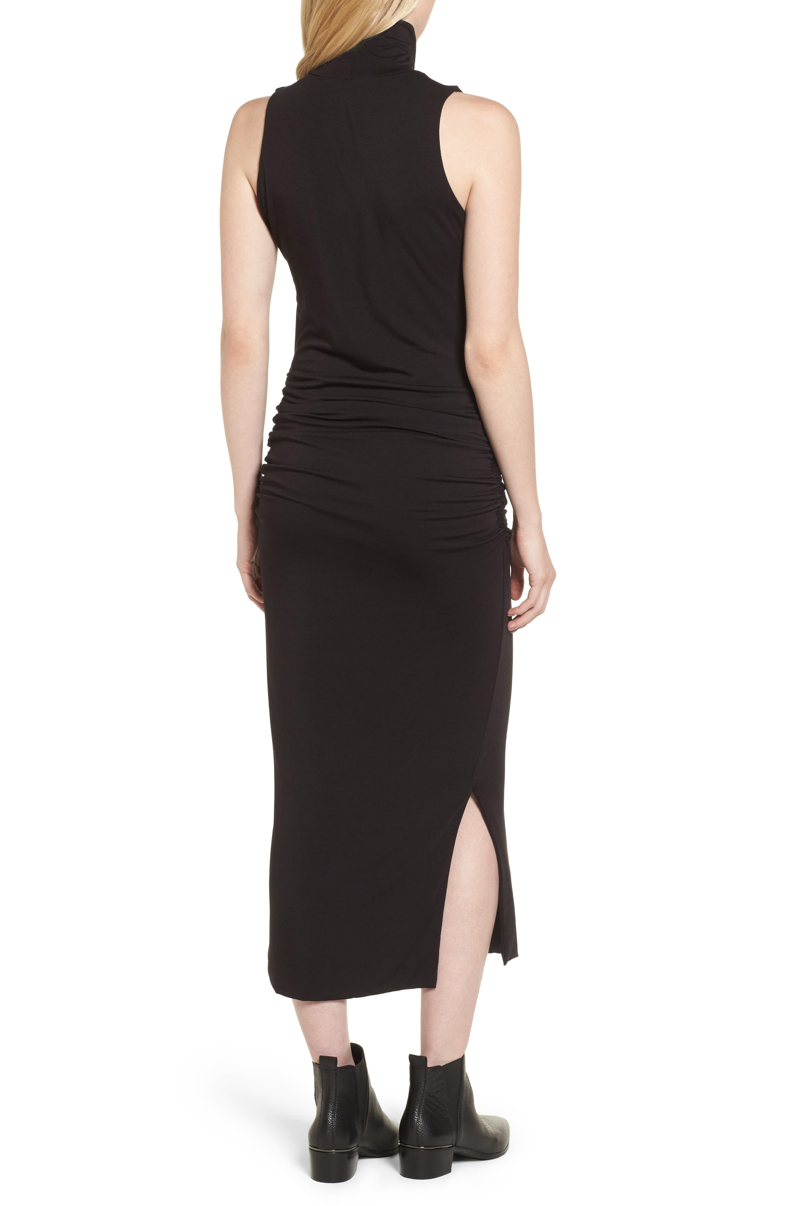 Turtleneck Maxi Dress,                             Alternate thumbnail 2, color,                             010