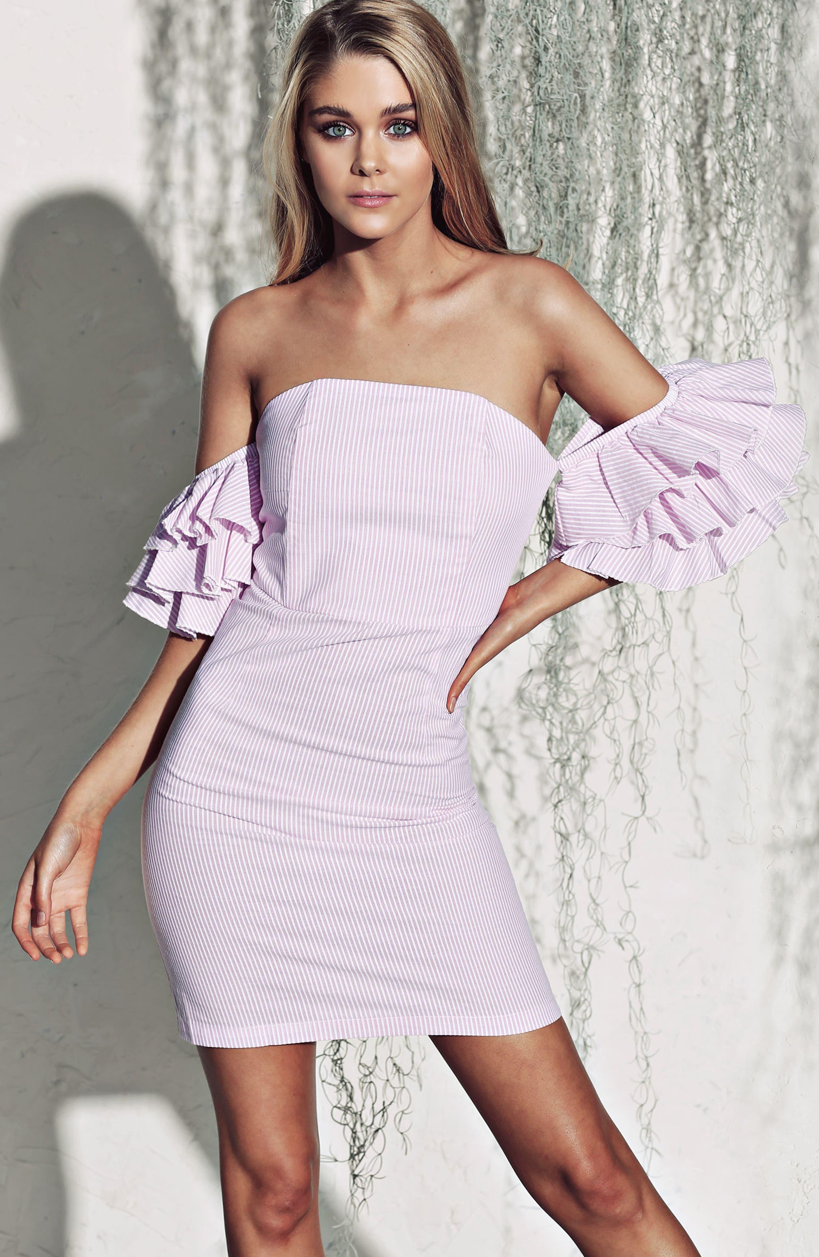 The Malibu Off the Shoulder Dress,                             Alternate thumbnail 14, color,