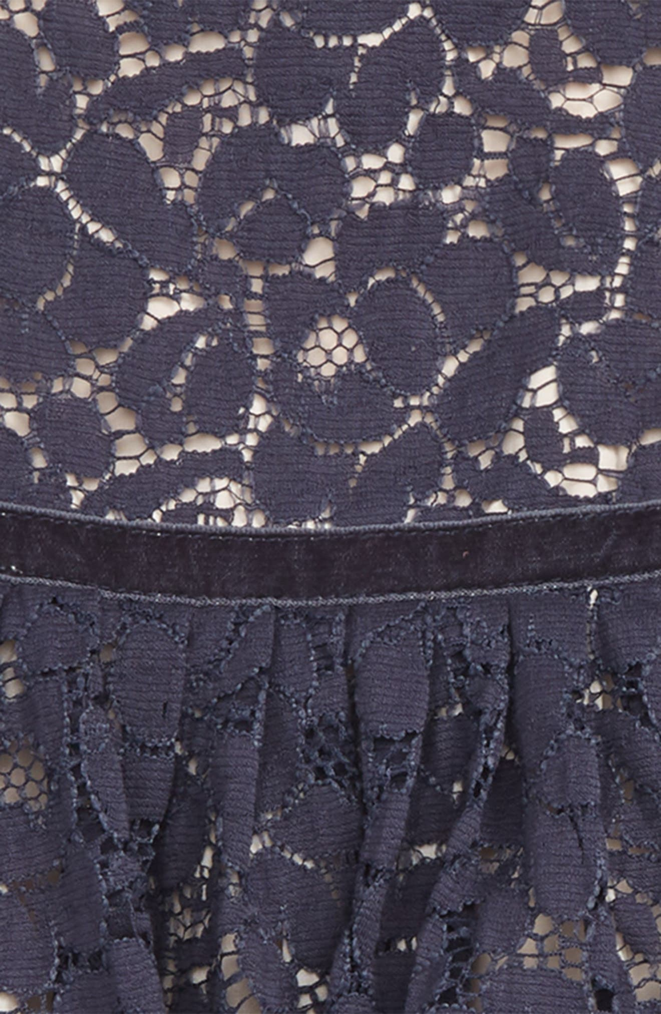 Pretty Lace Dress,                             Alternate thumbnail 2, color,                             NAVY CHARCOAL- PINK