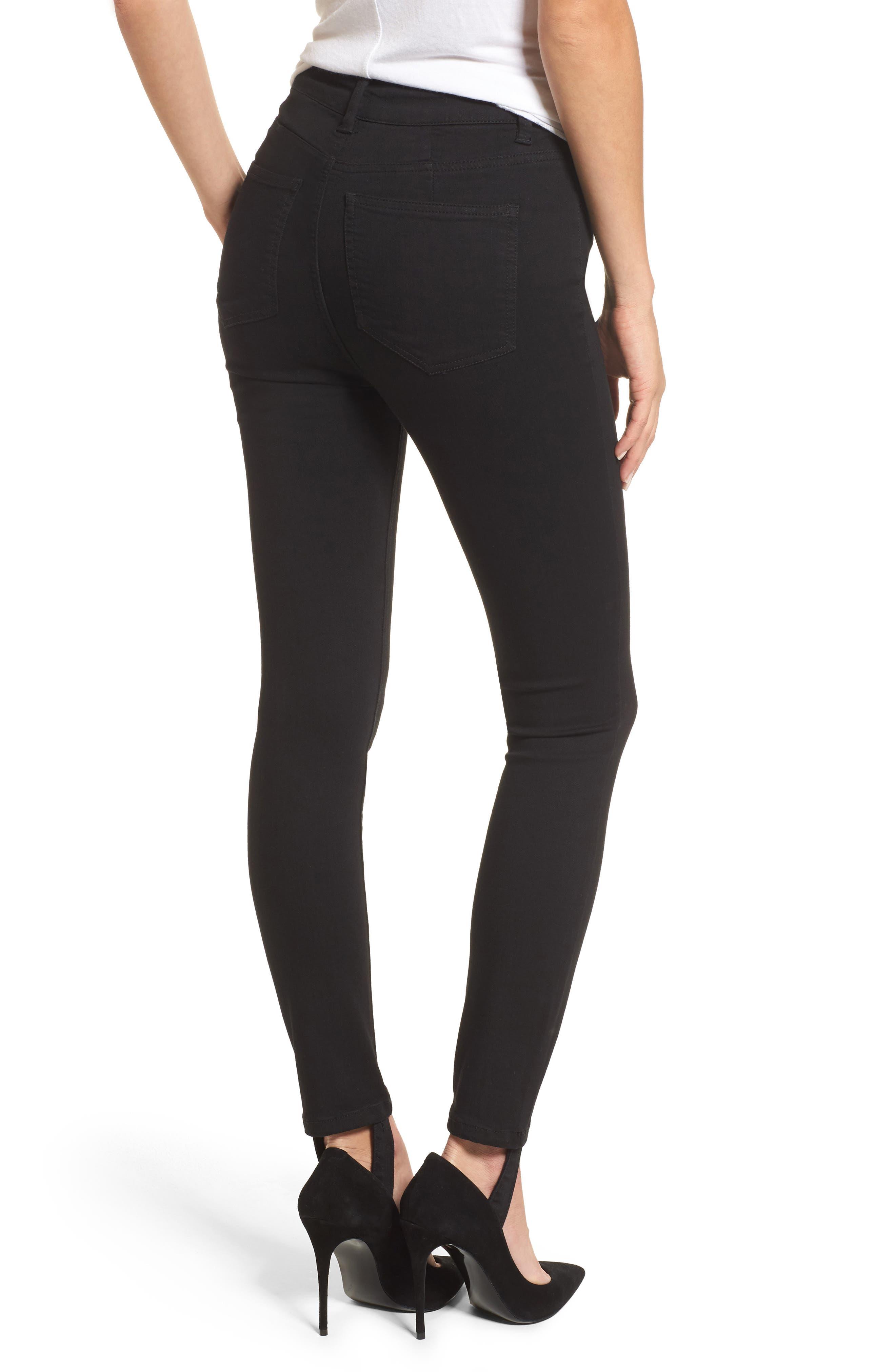 Luma High Waist Skinny Stirrup Jeans,                             Alternate thumbnail 2, color,                             002